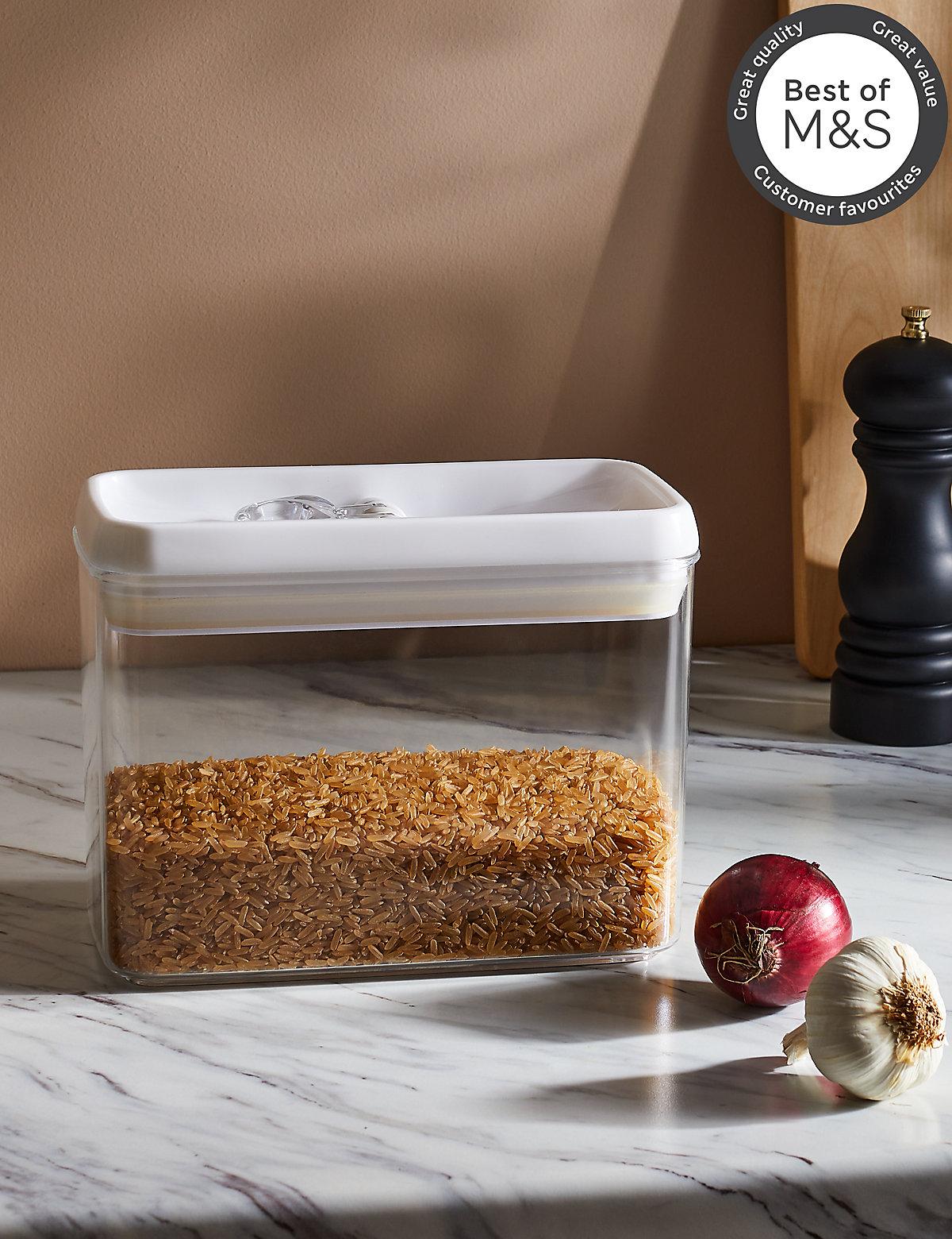 Medium Rectangular Flip Tight Storage Jar