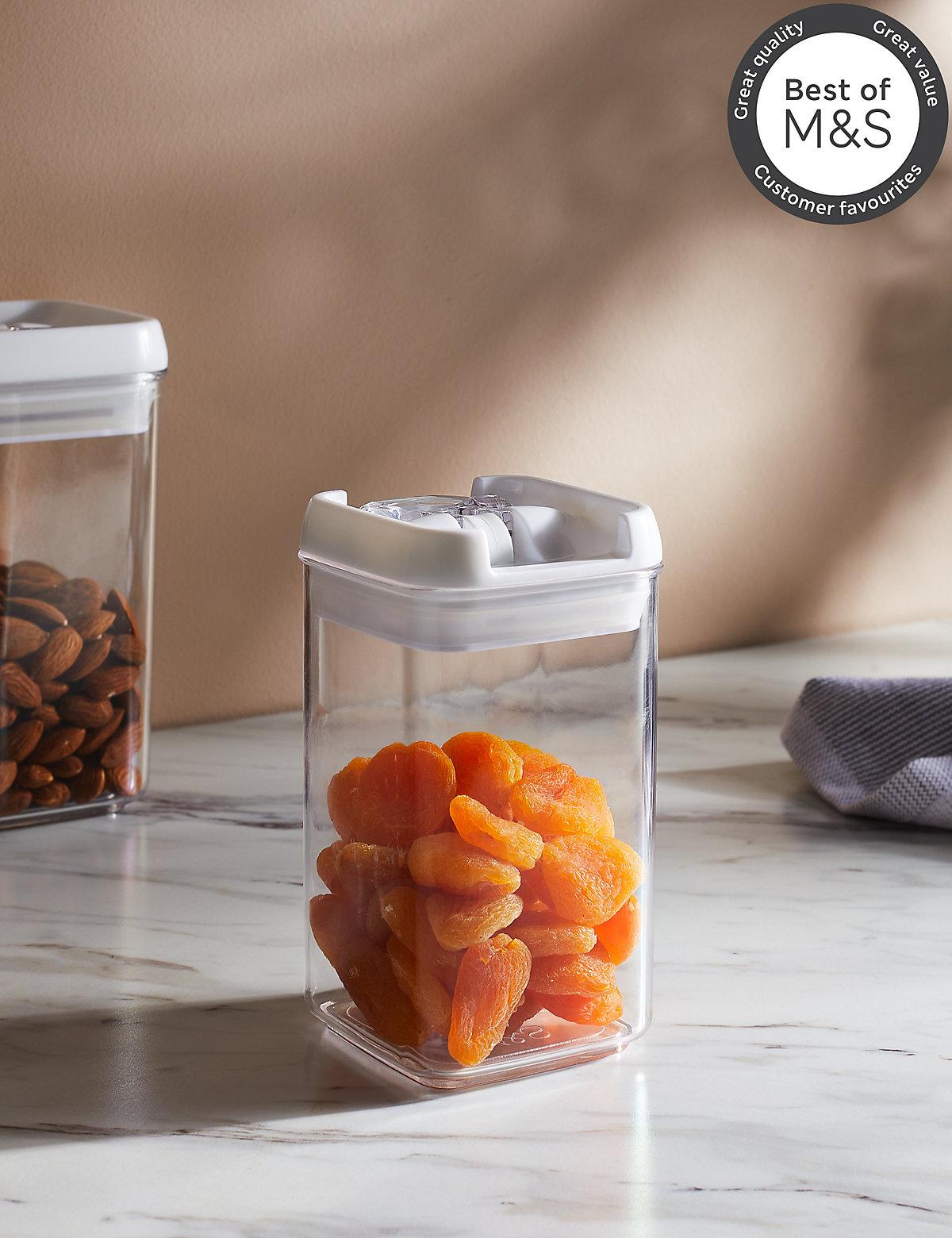 Small Rectangular Flip Tight Storage Jar