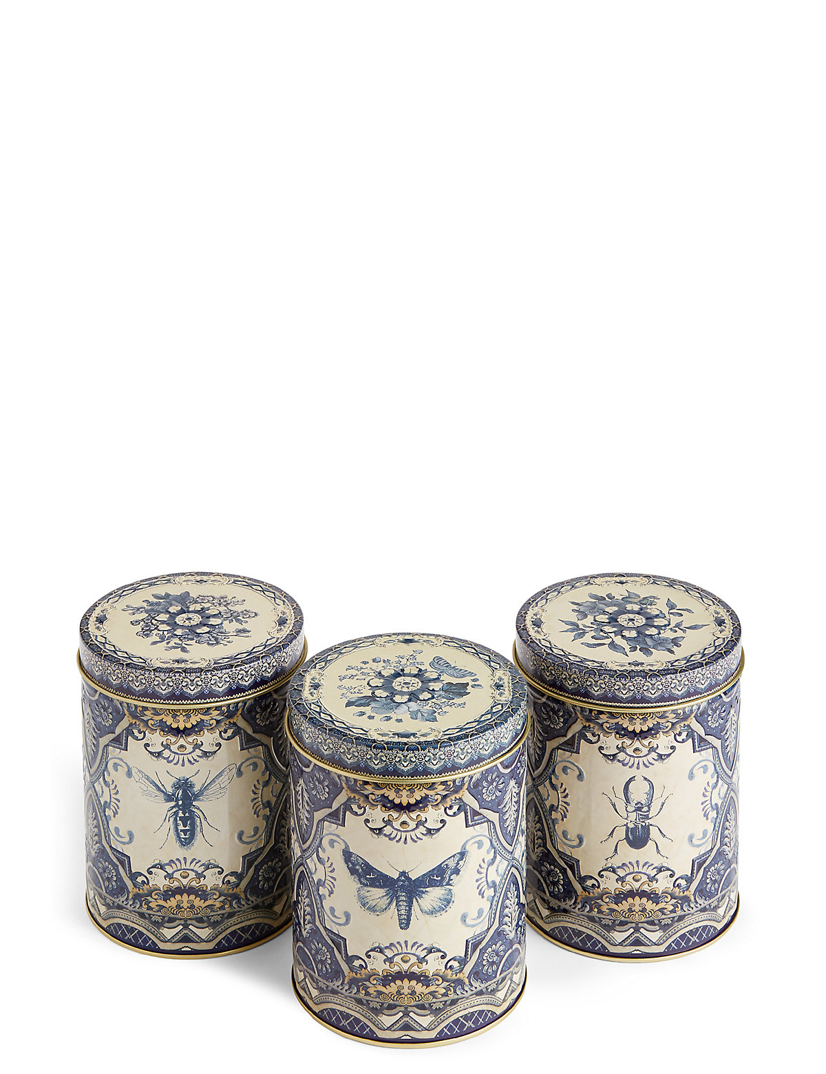 Dovecote Set of 3 Tea Coffee & Sugar Tins