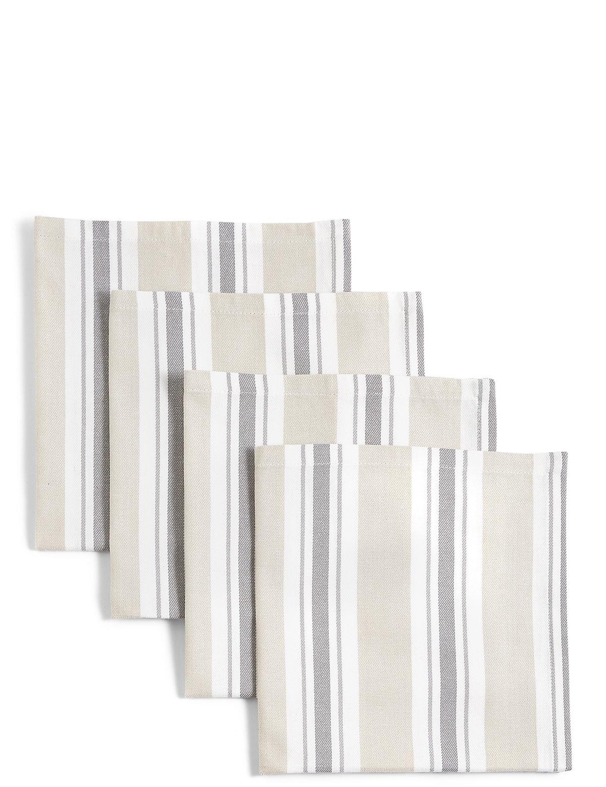 4 Pack Twill Stripe Napkins