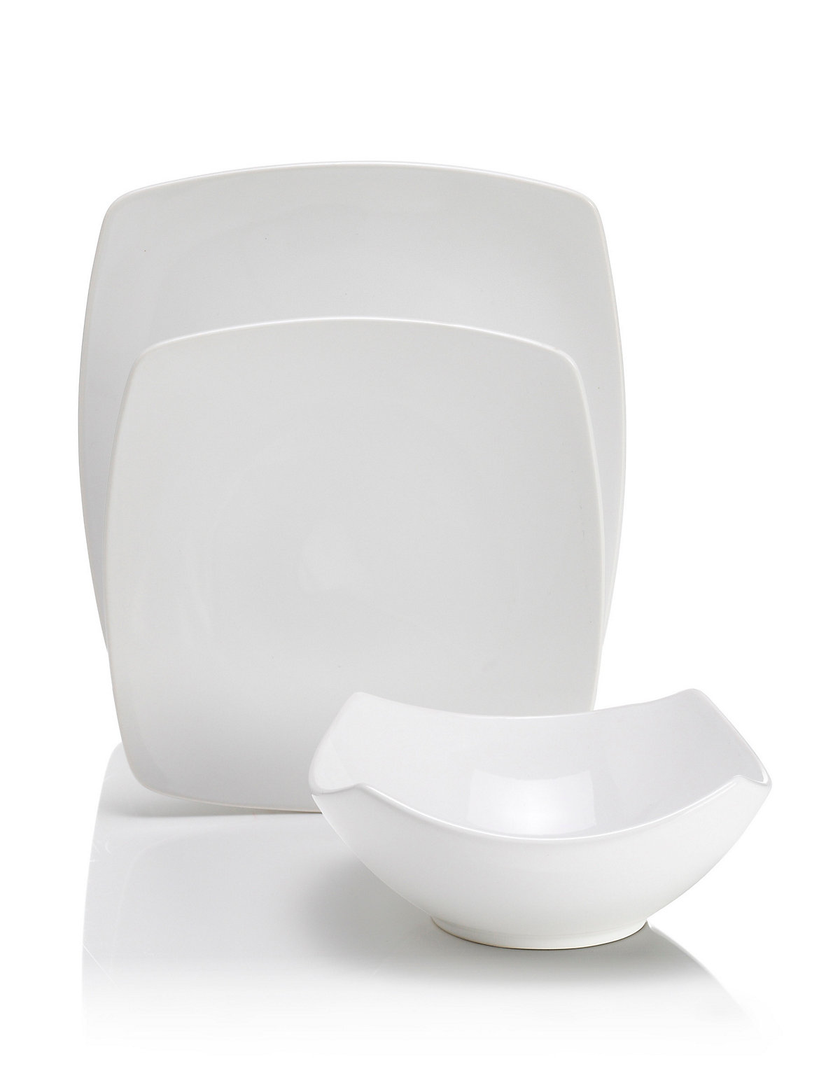 Image of 12 Piece Andante Square Dinner Set