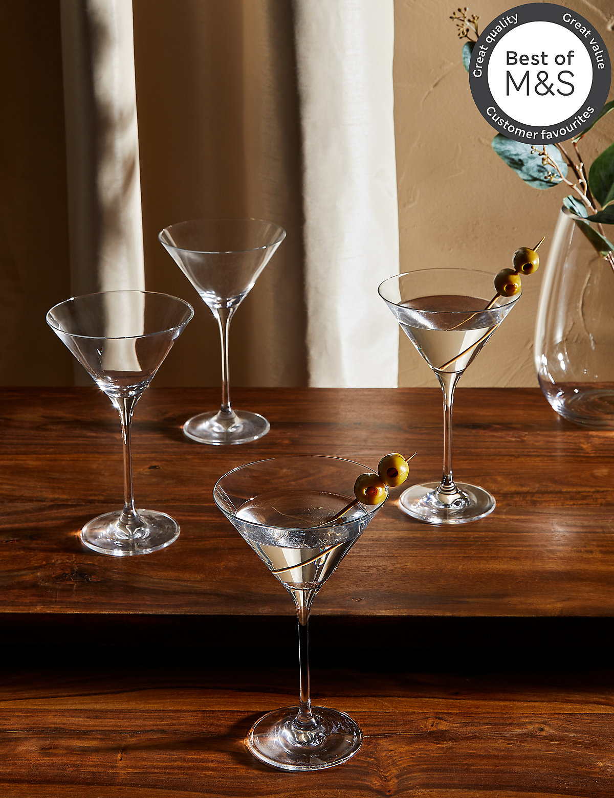 4 Maxim Martini Glasses