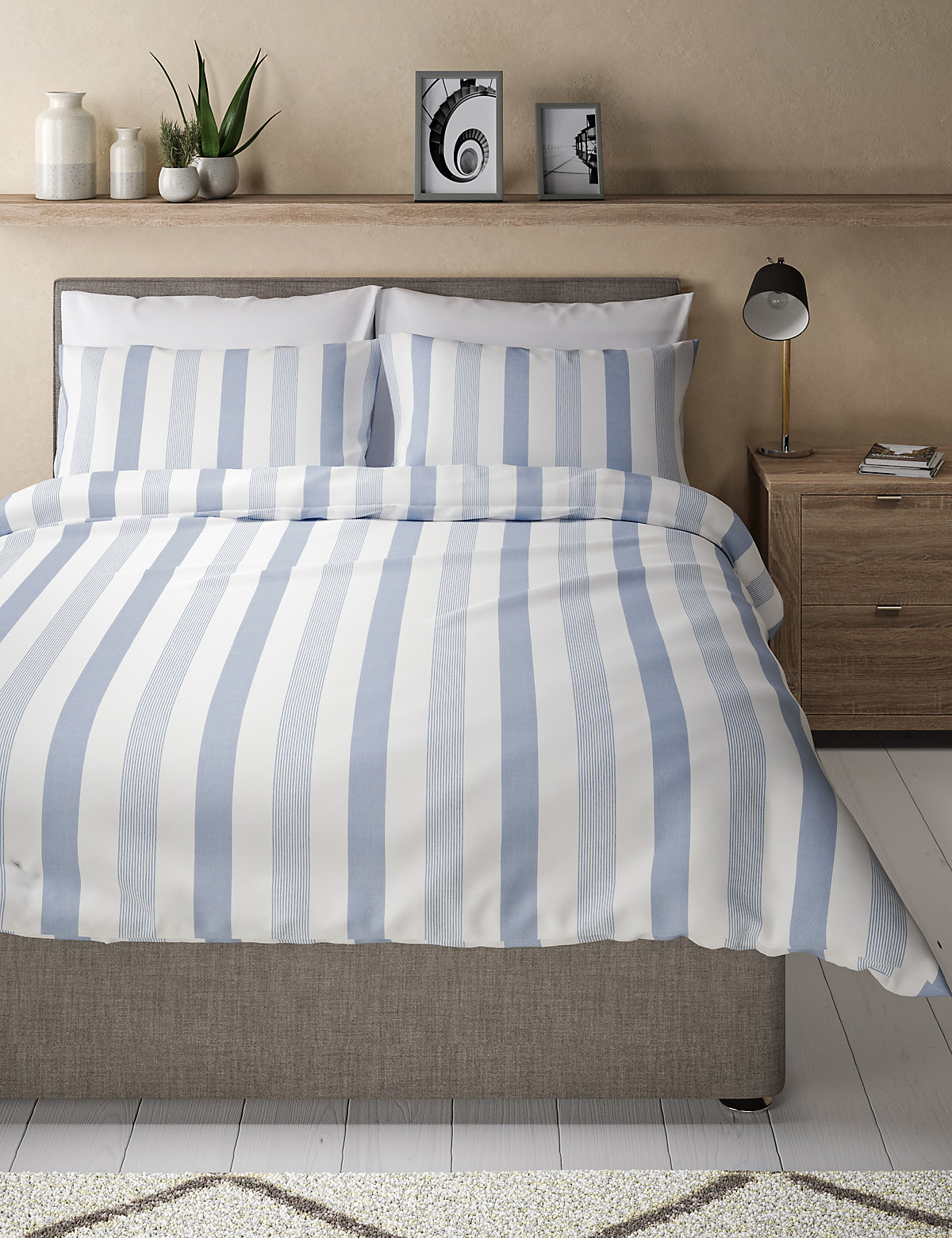 marks and spencer hadley striped bedding set