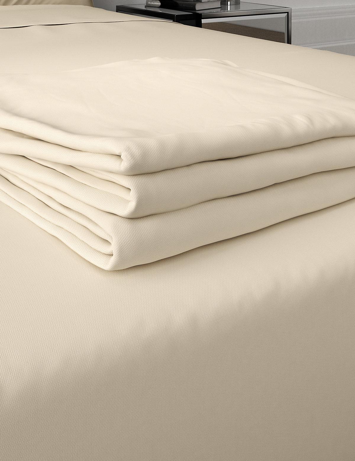 Pure Egyptian Cotton 400 Thread Count Sateen Flat Sheet