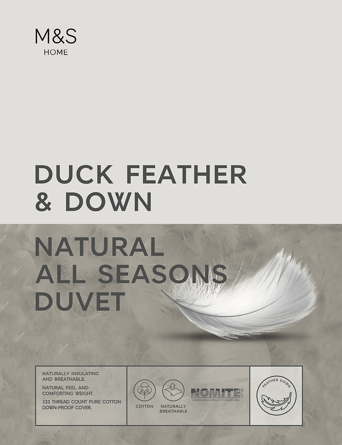 Duck Feather & Down All Seasons 13.5 Tog Duvet