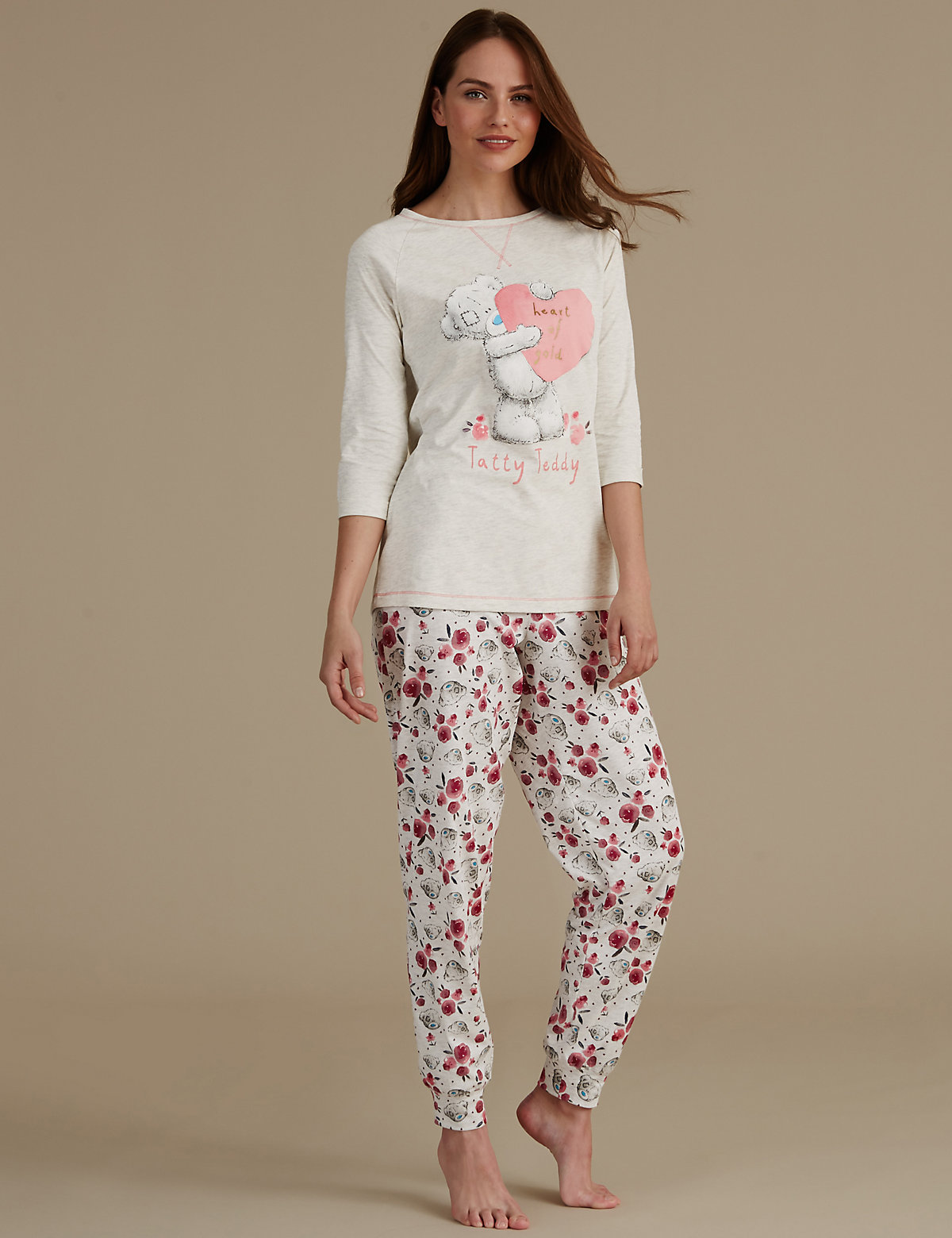 Tatty Teddy Printed ¾ Sleeve Pyjama Set
