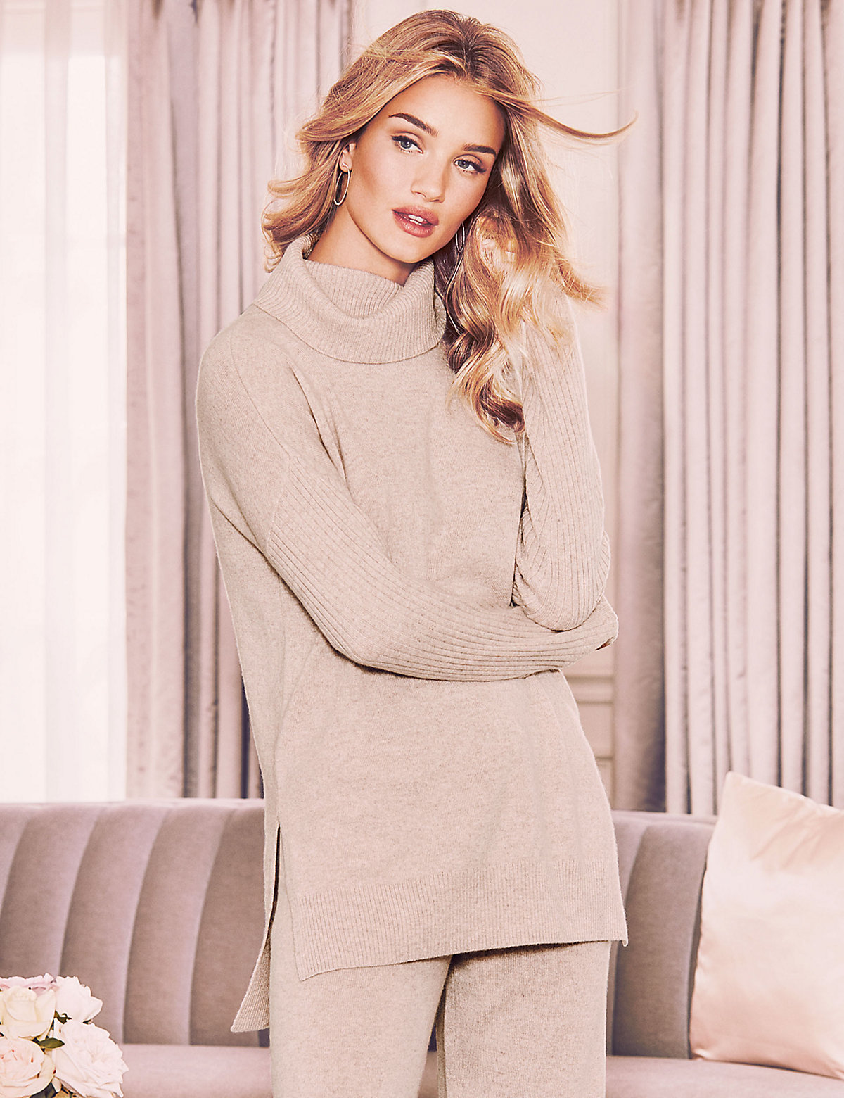 Rosie for Autograph Pure Cashmere Roll Neck Pyjama Top