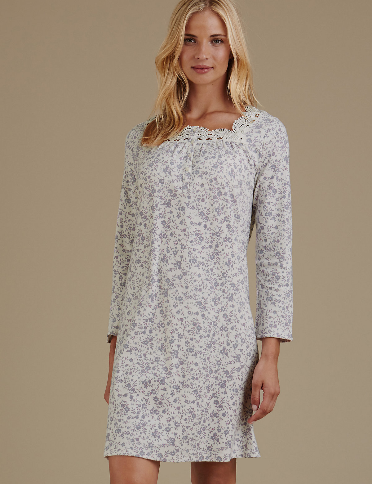 M&s Collection Pure Cotton Jersey Print Nightdress