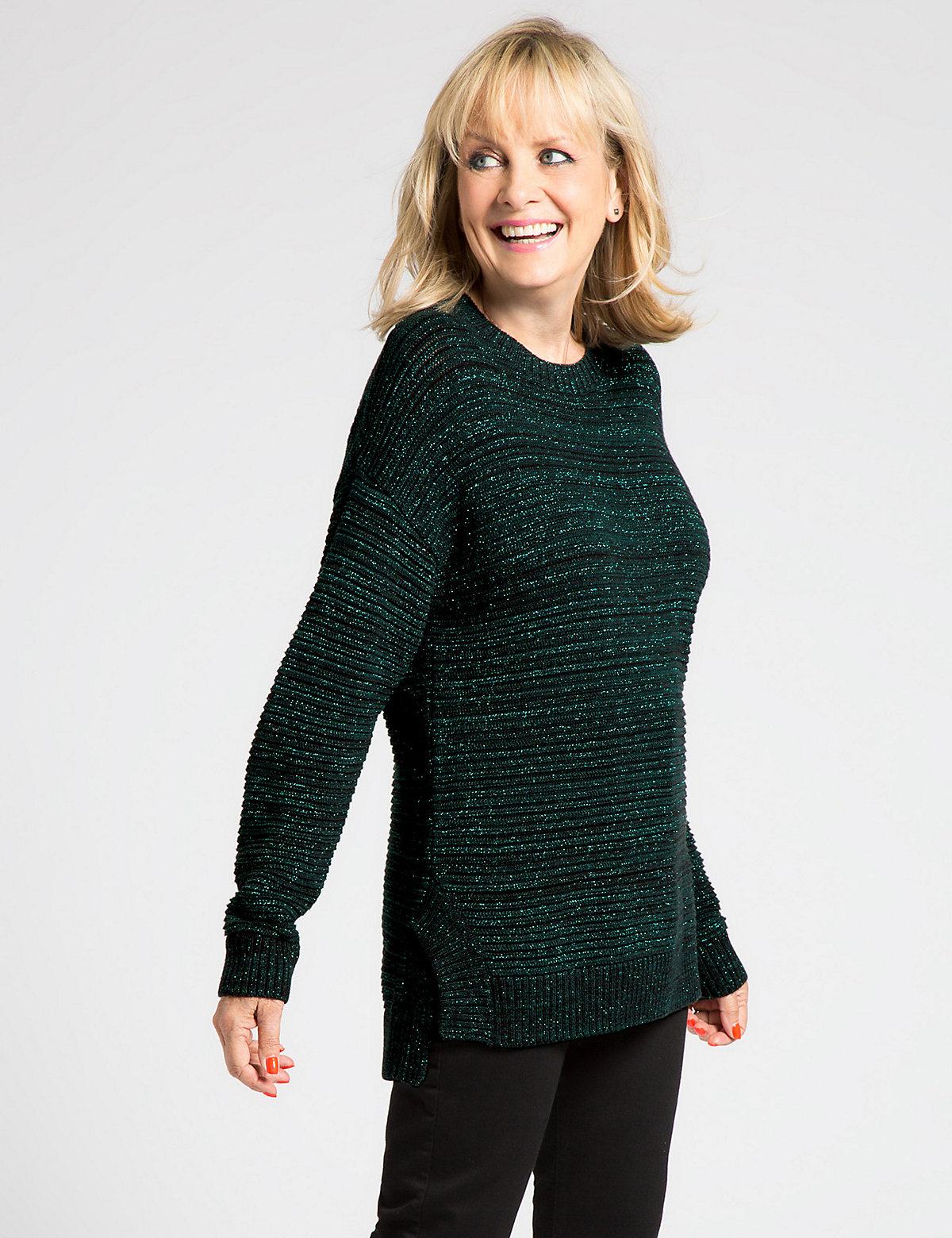 Designed by Twiggy Sparkle Ribbed Jumper
