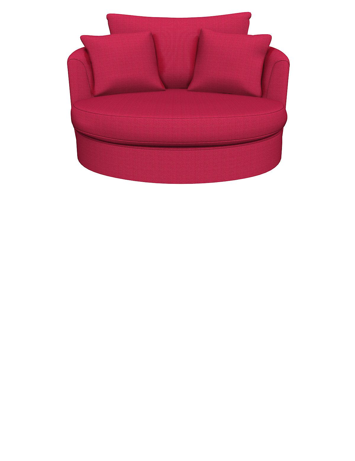Buy Red Swivel Loveseat Snuggler In Faux Leather