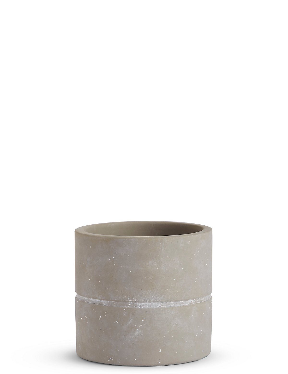 Image of 11cm Small Grey Raw Look Planter