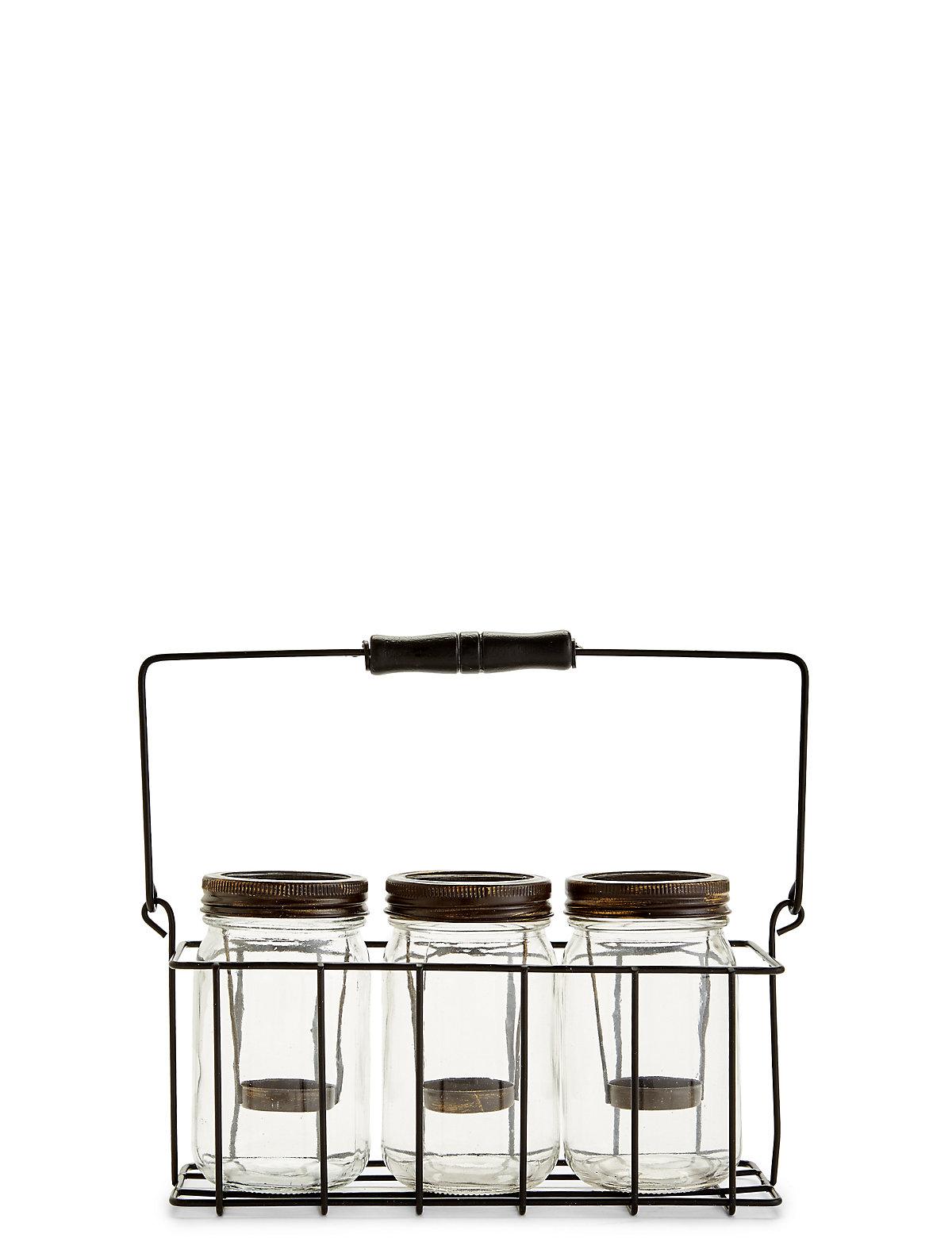3 Jar Tea Light Holder