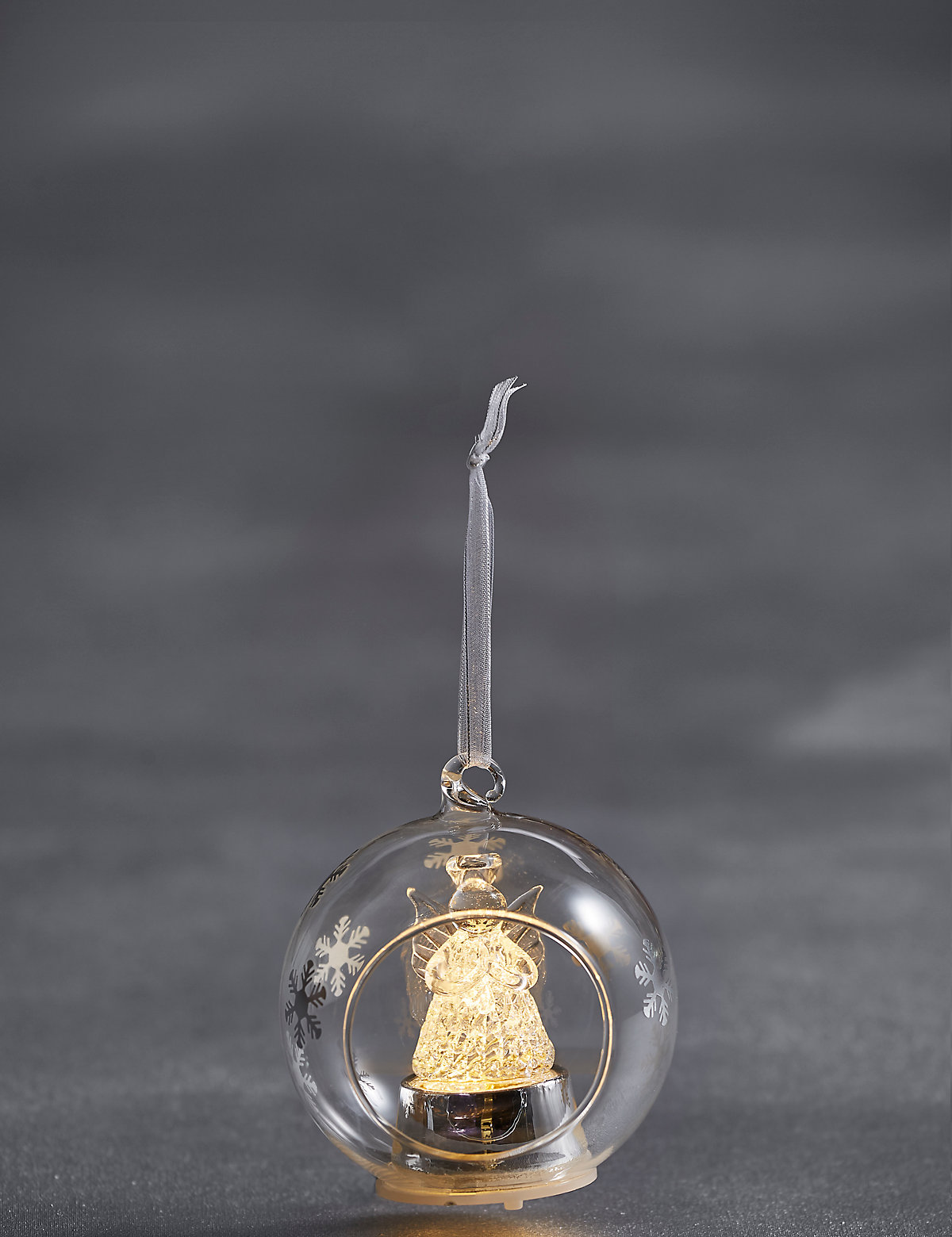 Hanging Lit Glass Angel Bauble