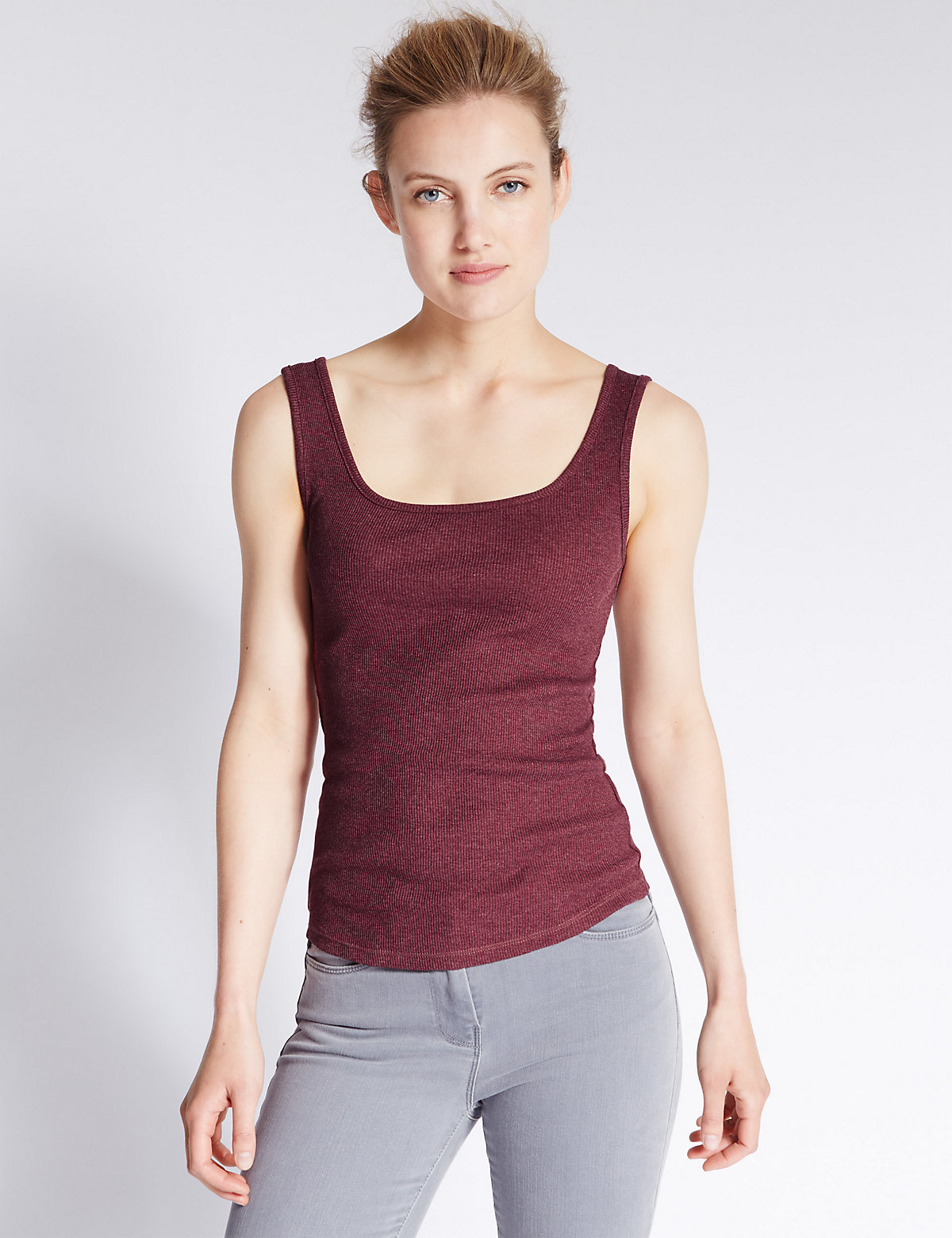M&S Collection Scoop Neck Vest Top