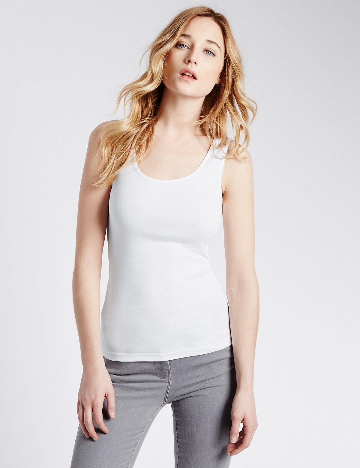 M&S Collection Pure Cotton Vest Top