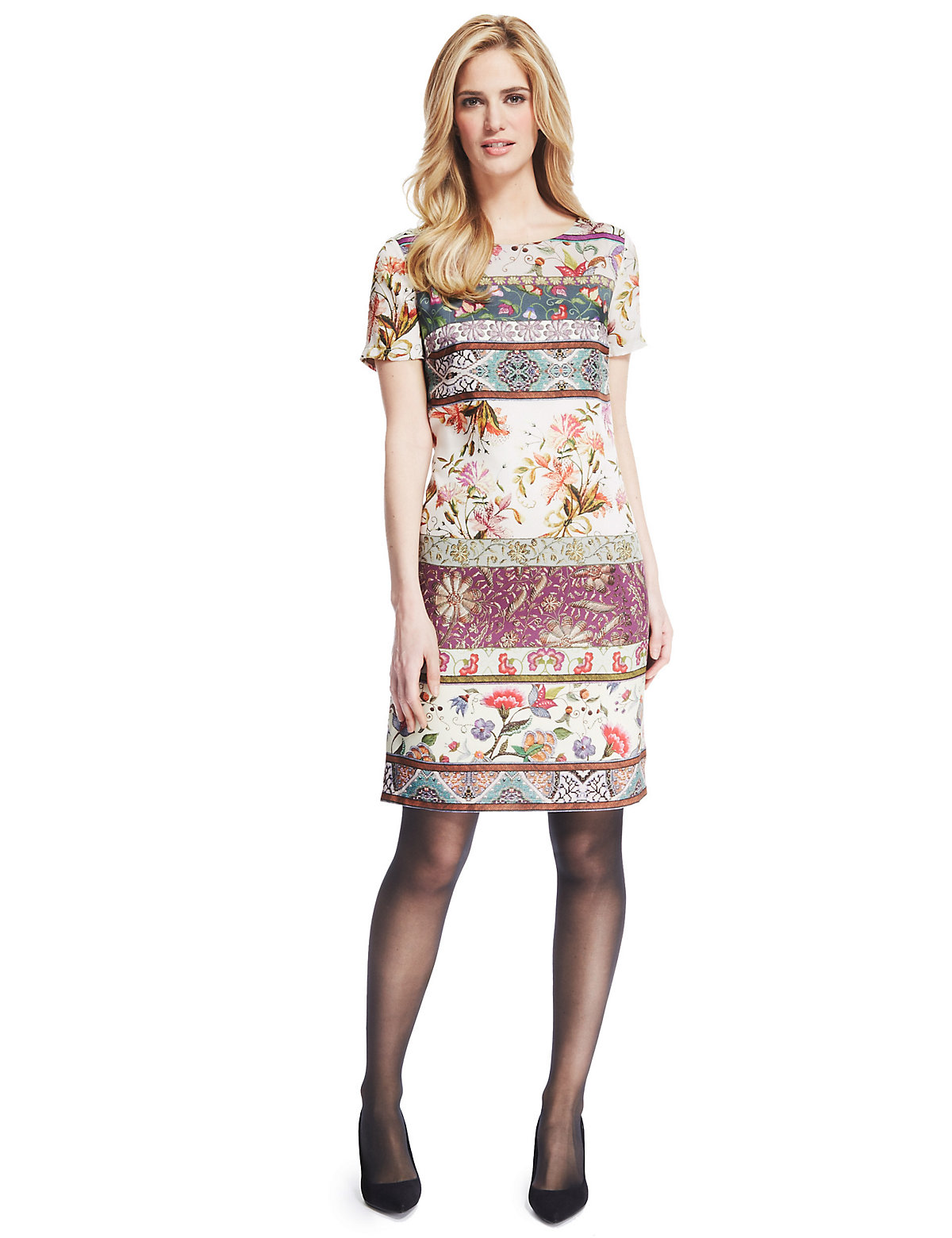 M & S Collection Tapestry Shift Dress