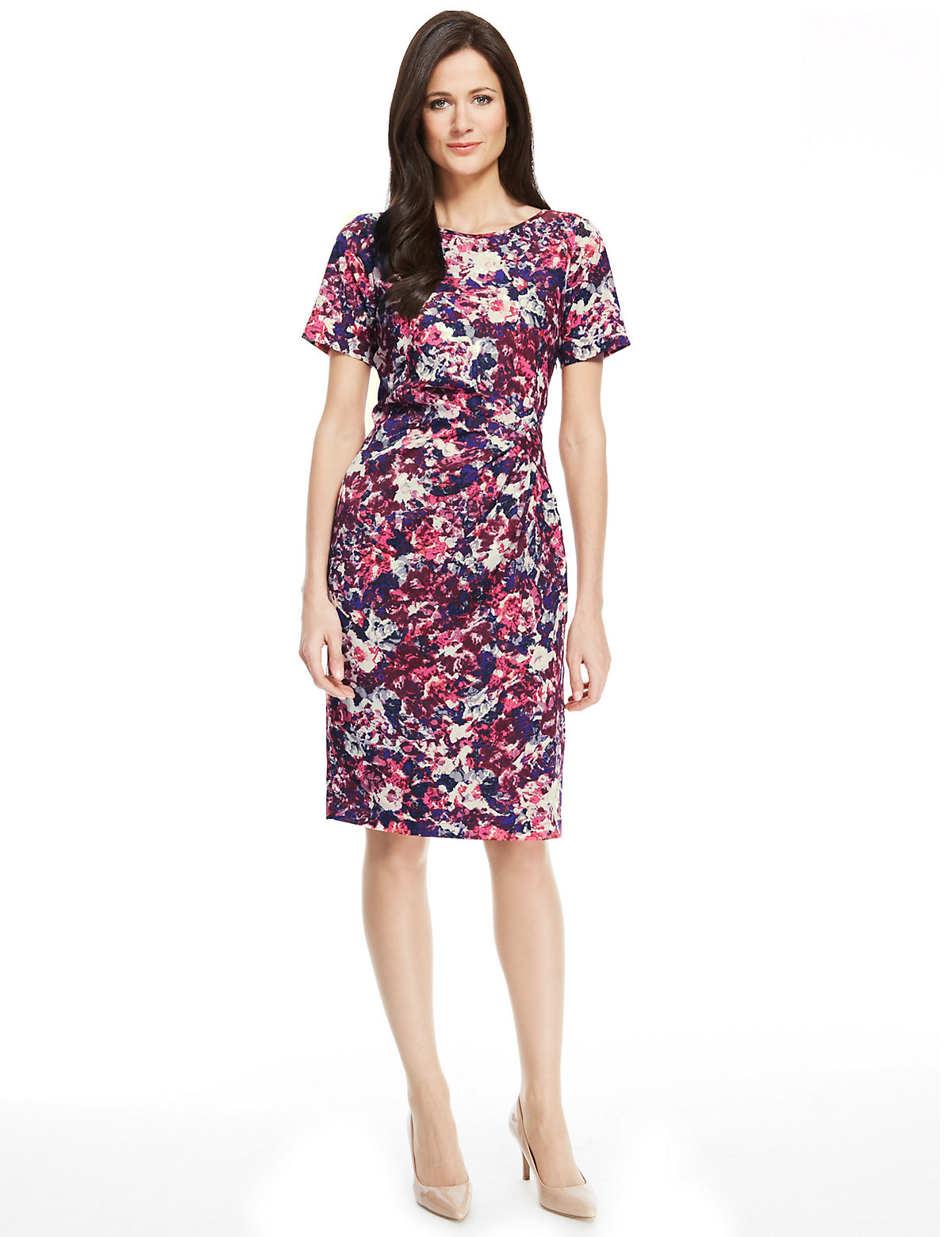 M & S Collection Abstract Print Shift Dress