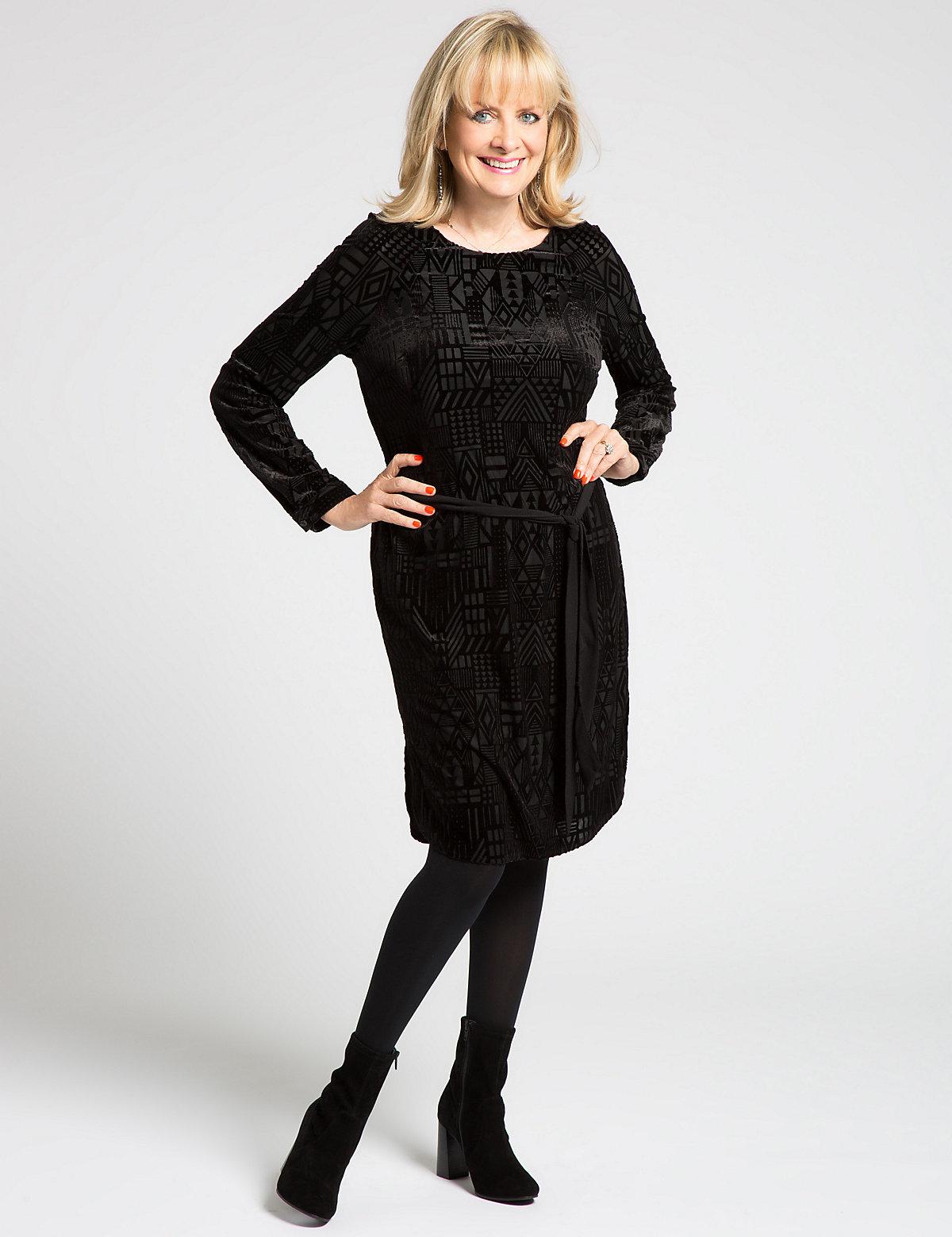 Designed by Twiggy Devore Shift Dress with Belt