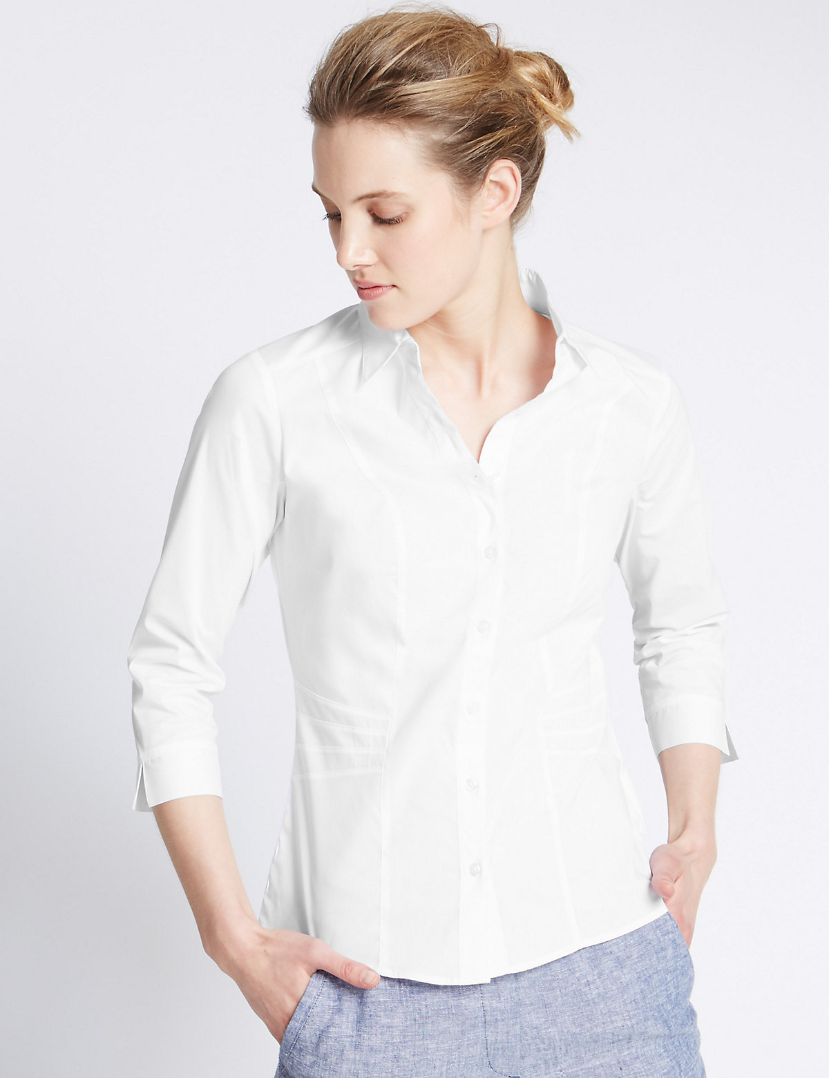 M&S Collection Fuller Bust Shirt