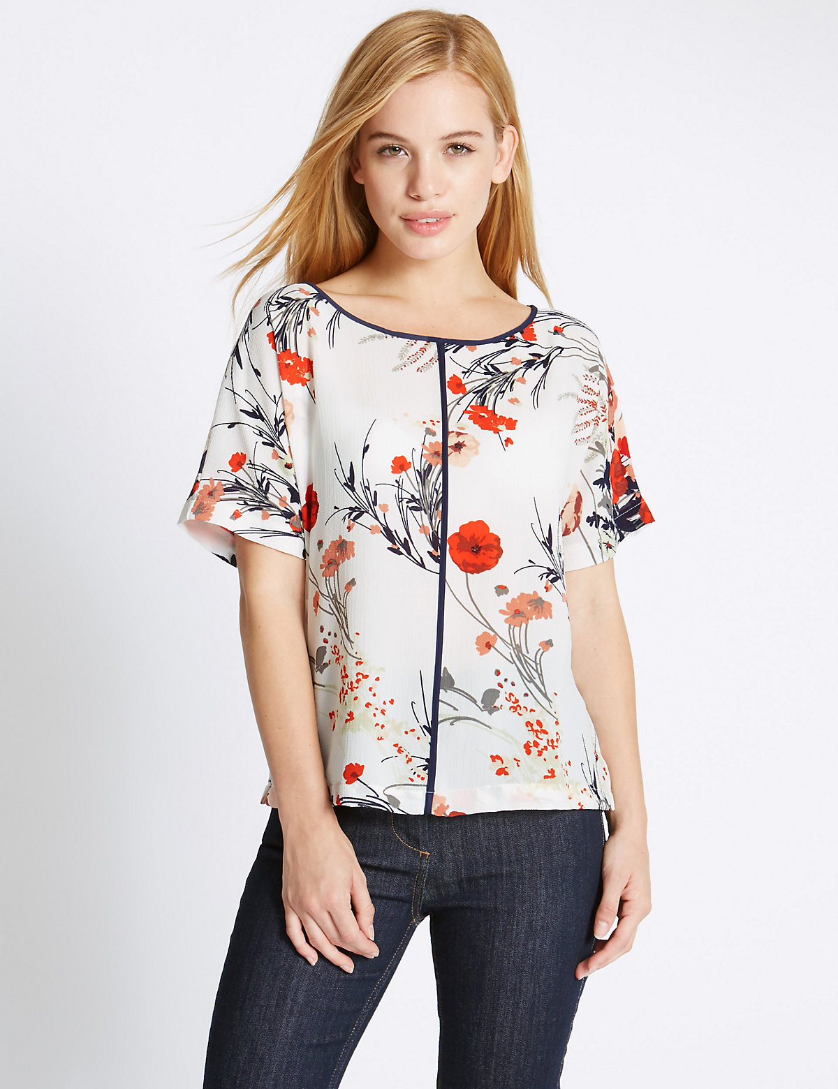 M&S Collection PETITE Floral Shell Top