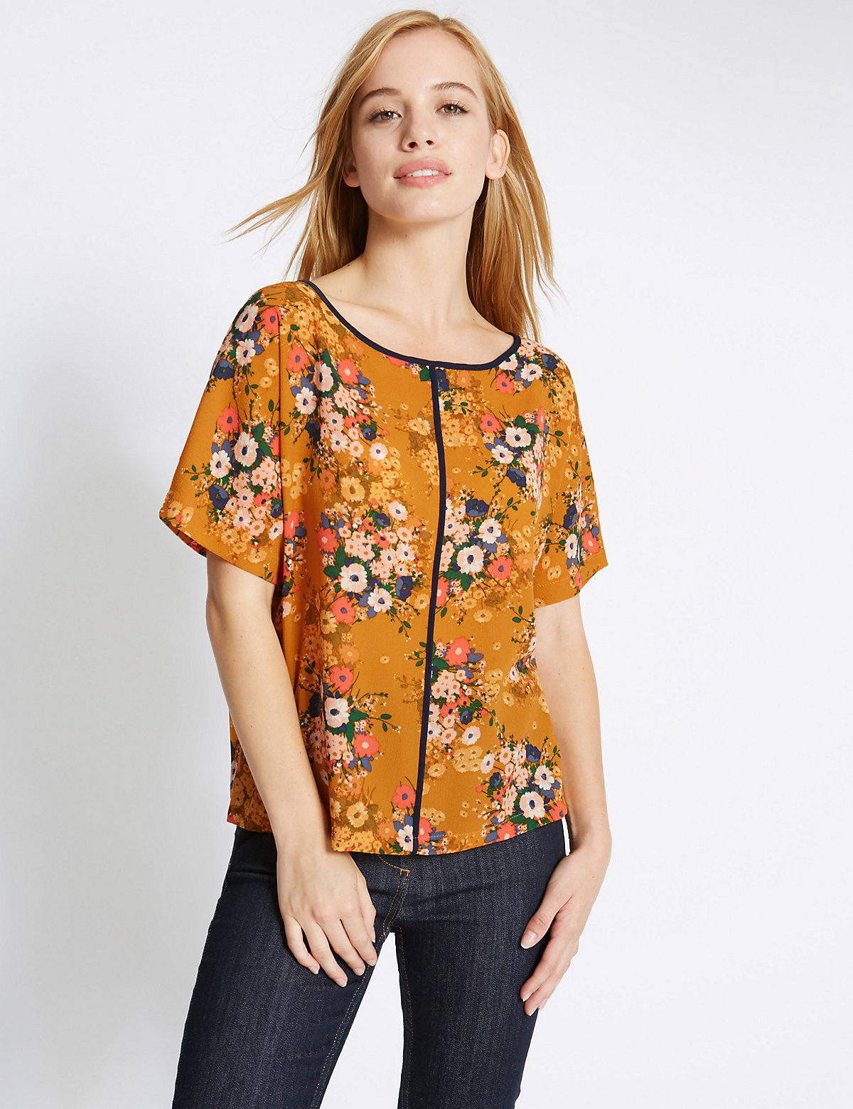 M&S Collection PETITE Floral Print Shell Top