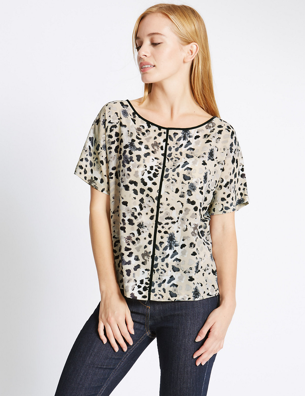 M&S Collection PETITE Animal Print Shell Top