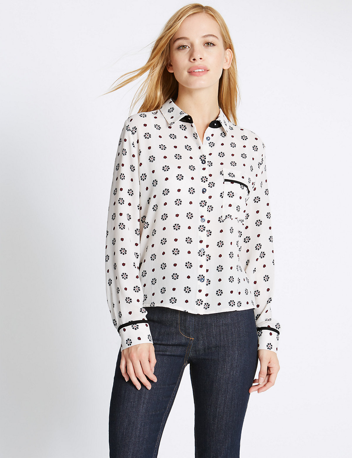M&S Collection PETITE Collared Neck Shirt