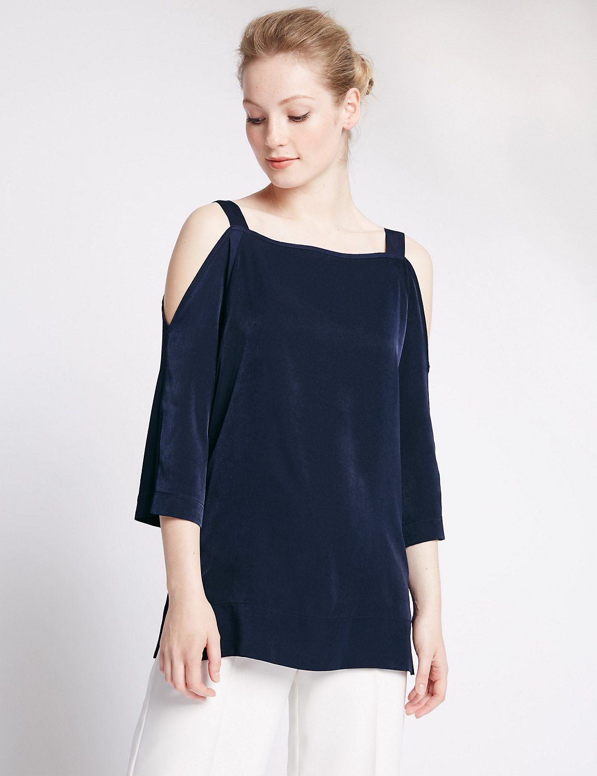 M&S Collection PETITE Cold Shoulder Top