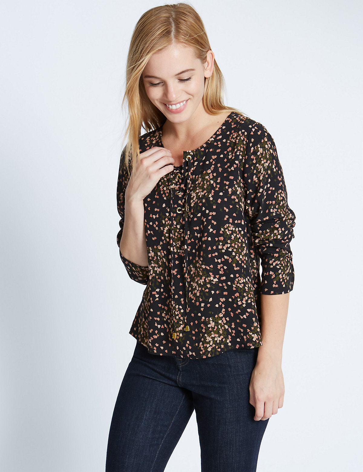 M&S Collection PETITE Long Sleeve Blouse