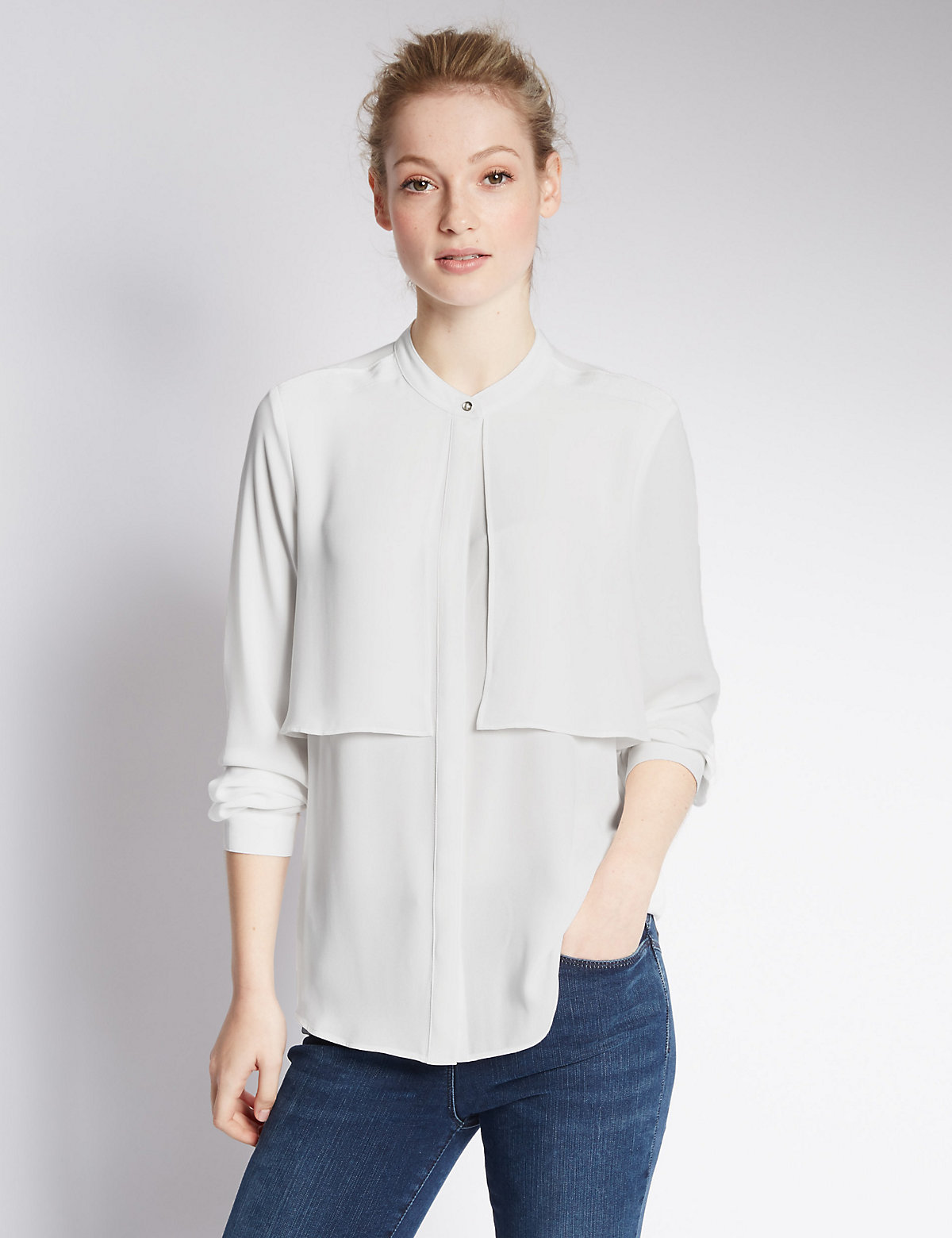 M&S Collection PETITE Front Flap Shirt