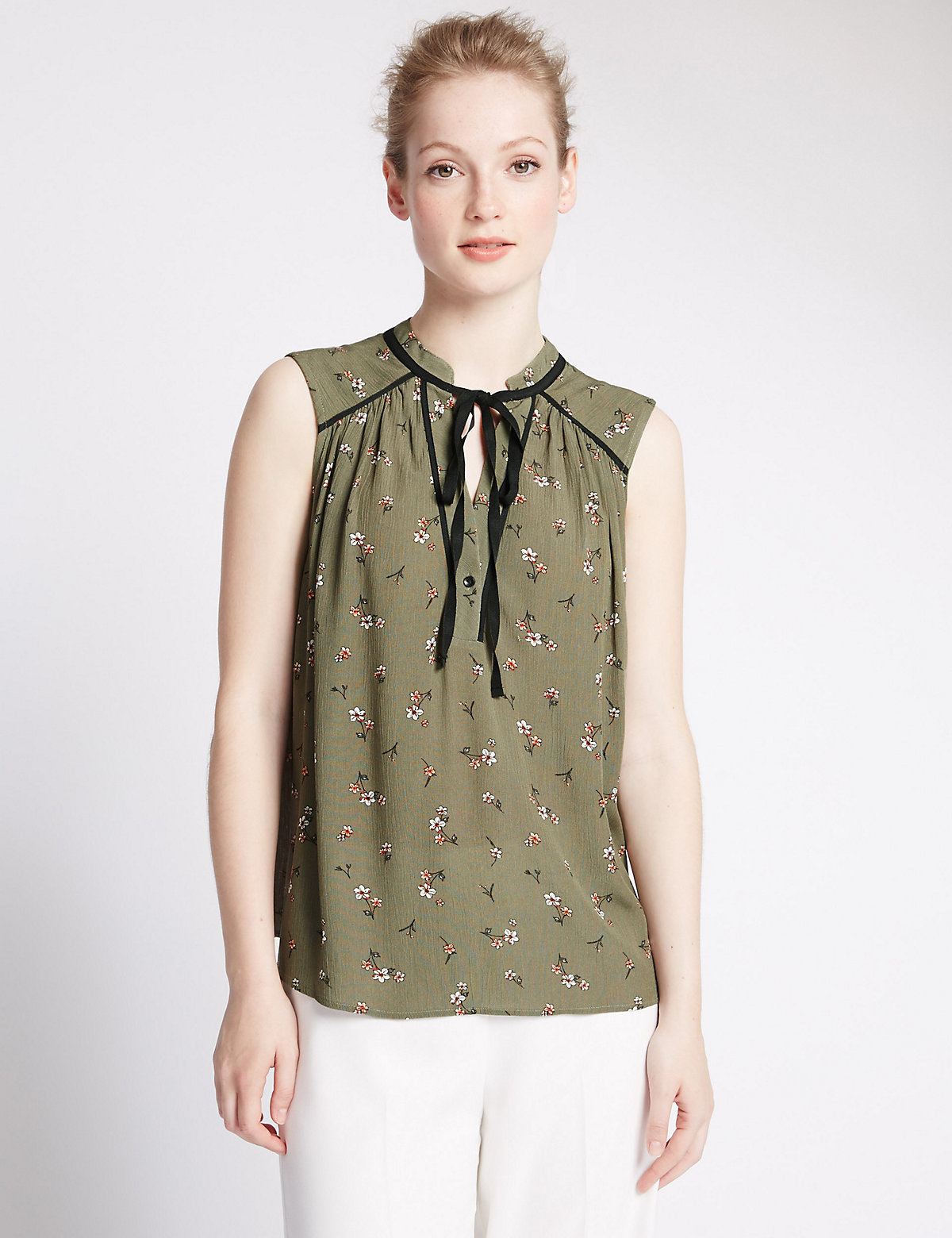 M&S Collection PETITE Floral Blouse