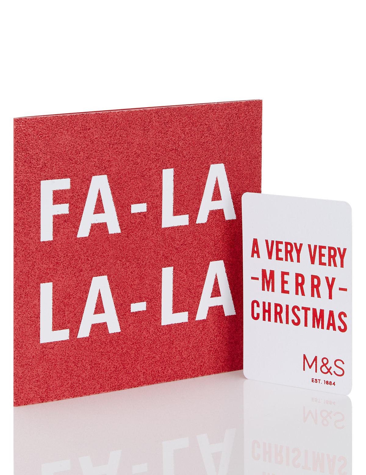 Festive Fa la la la Gift Card £1000