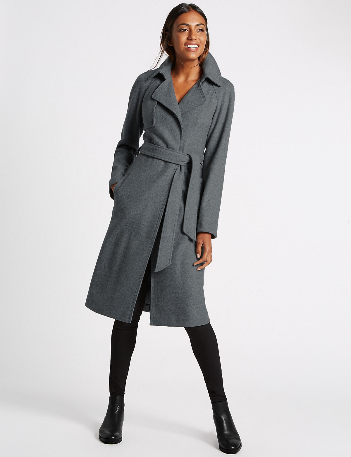 M&S Collection Unstructured Trench Coat