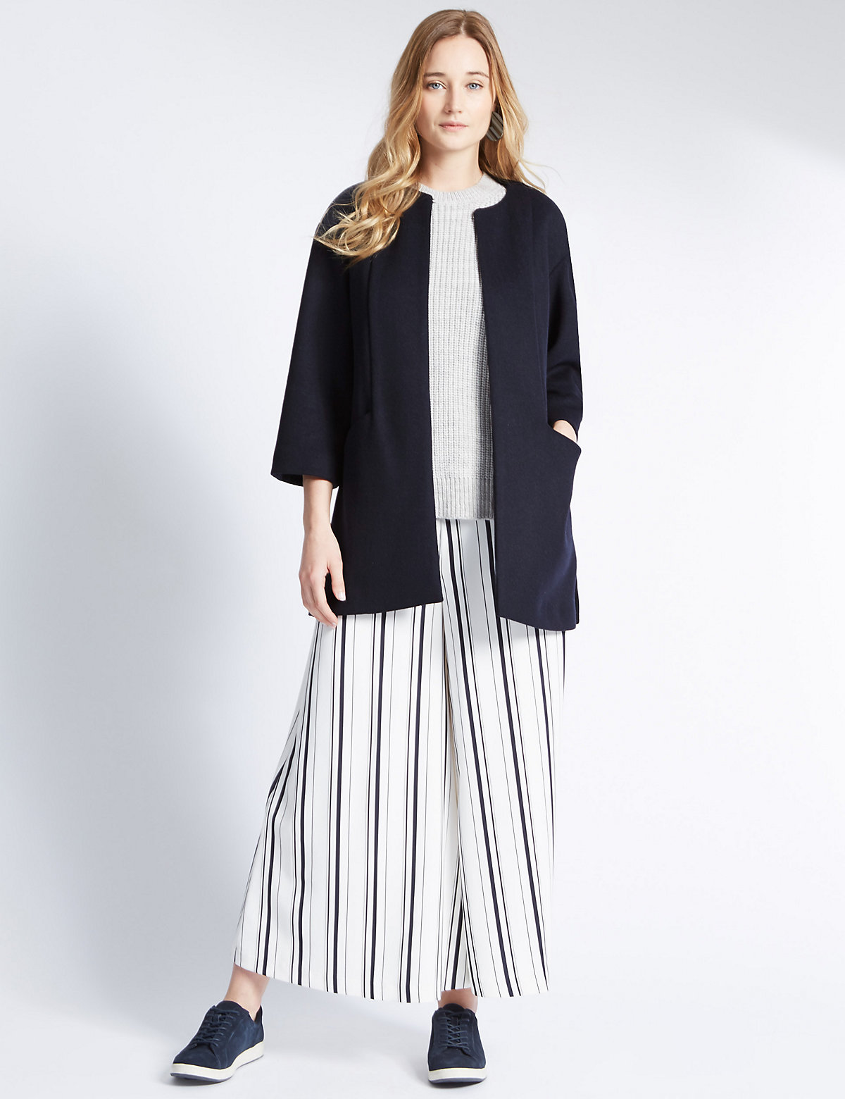 M&S Collection Double Face Shirt Coat