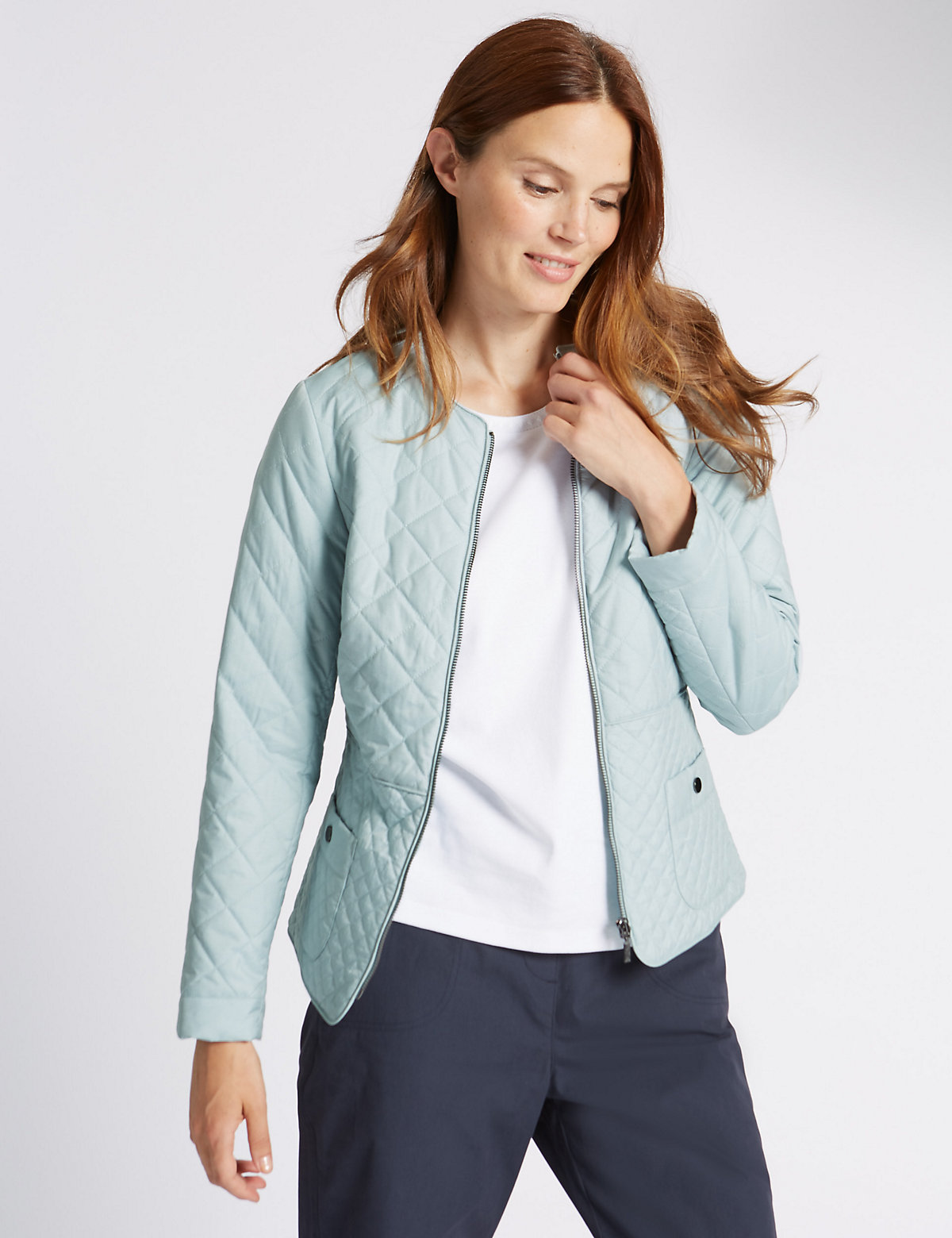 Classic Quilted Zip Through Jacket With Stormwear