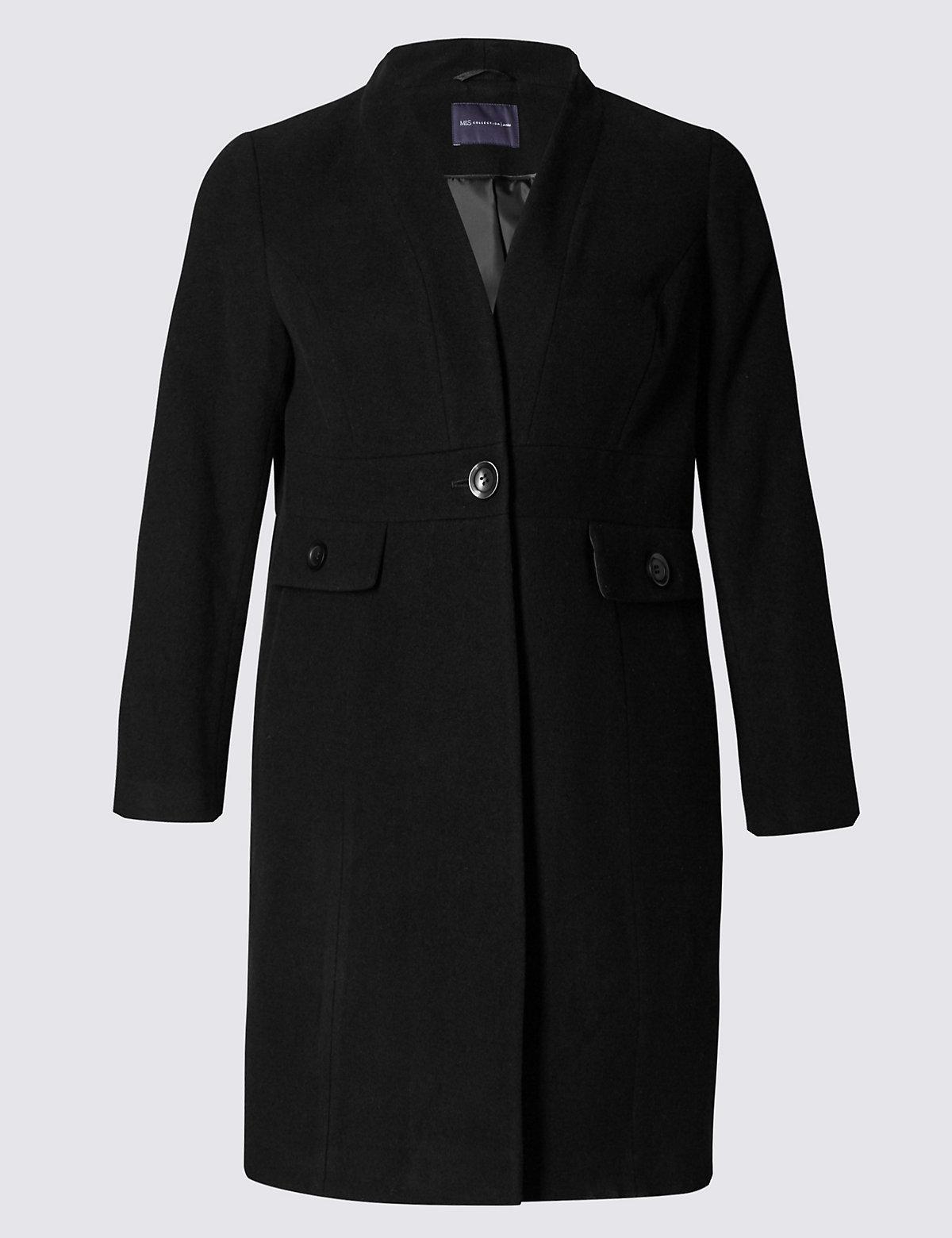 M&S Collection PETITE Waist Button Coat