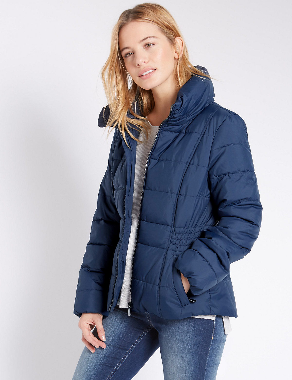M&S Collection PETITE Padded Coat with Stormwear