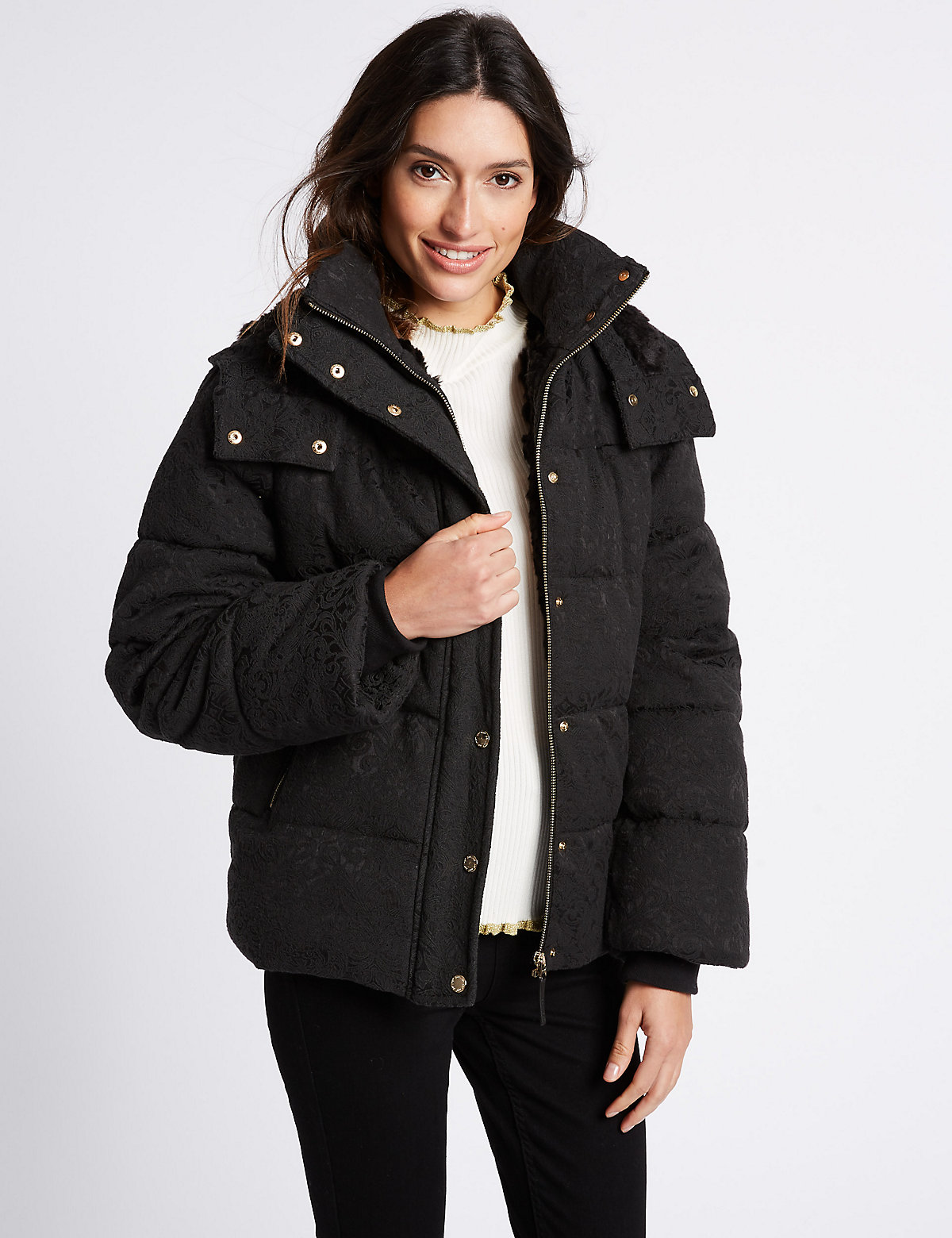 Per Una Padded & Quilted Jacket with Stormwear