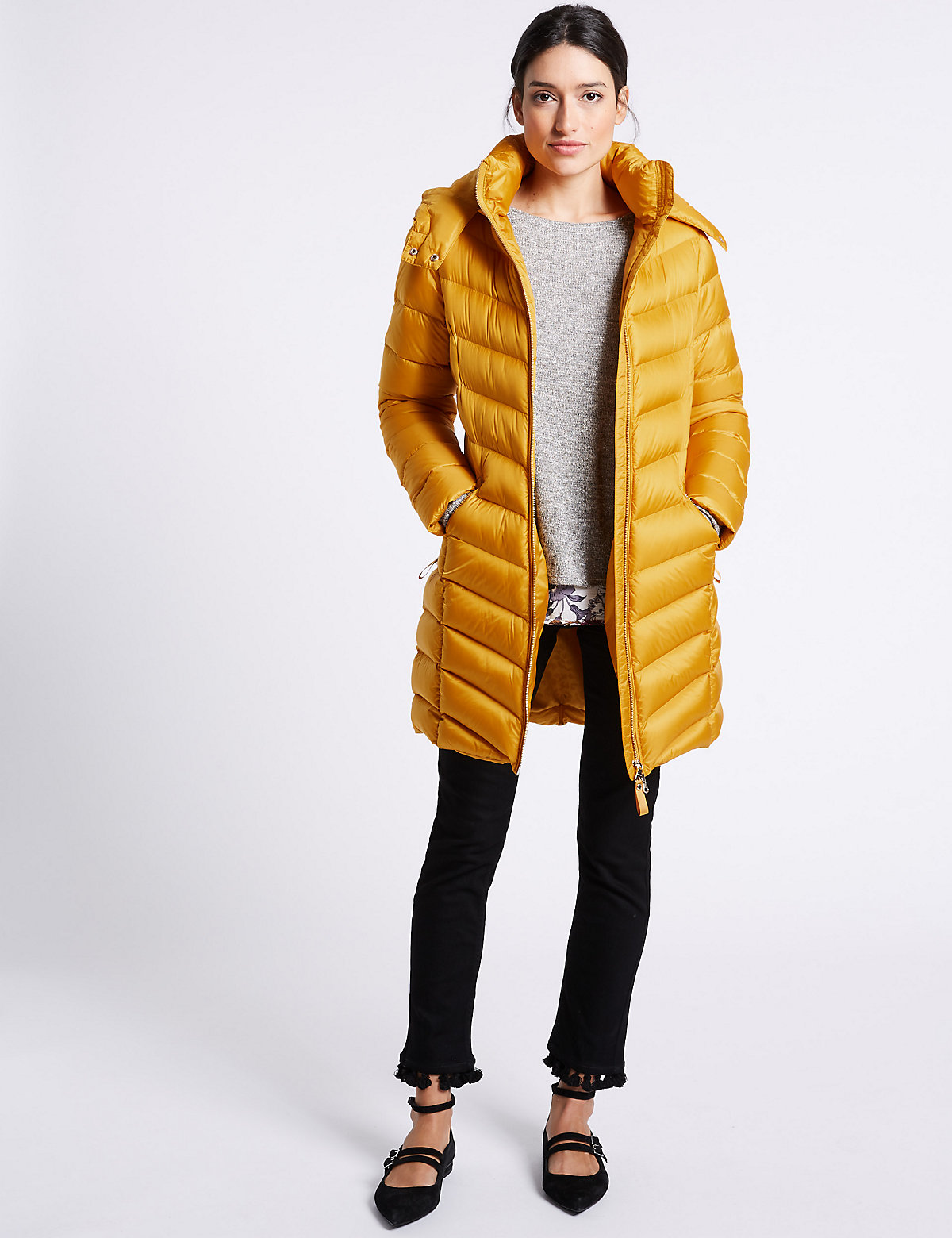 Per Una Down & Feather Padded Jacket with Stormwear