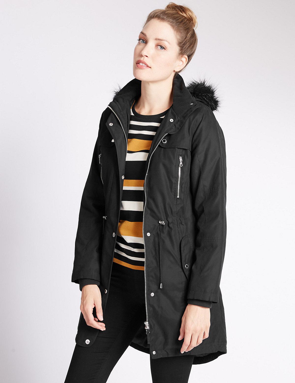 Per Una Hooded Coat