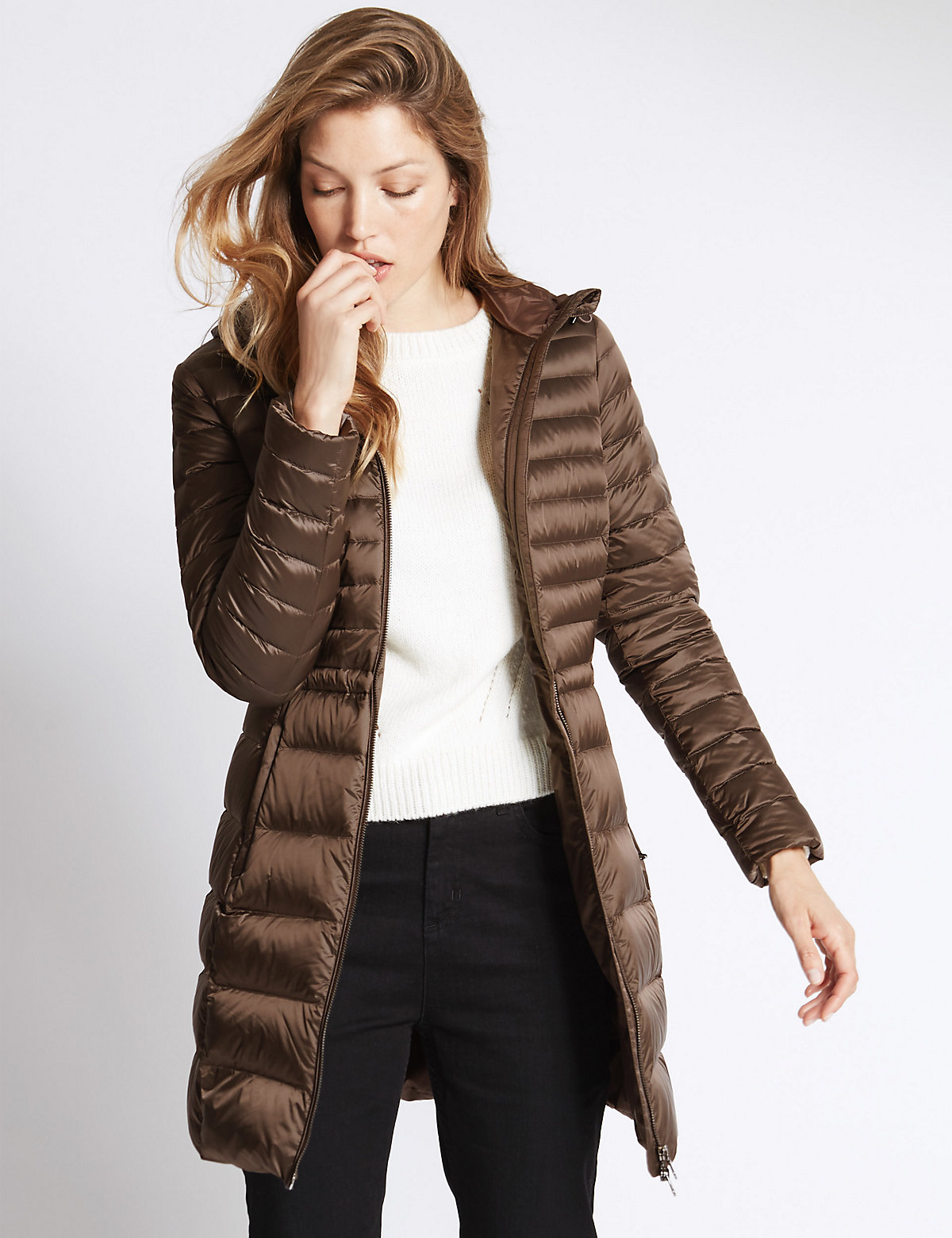 Per Una Padded & Quilted Coat