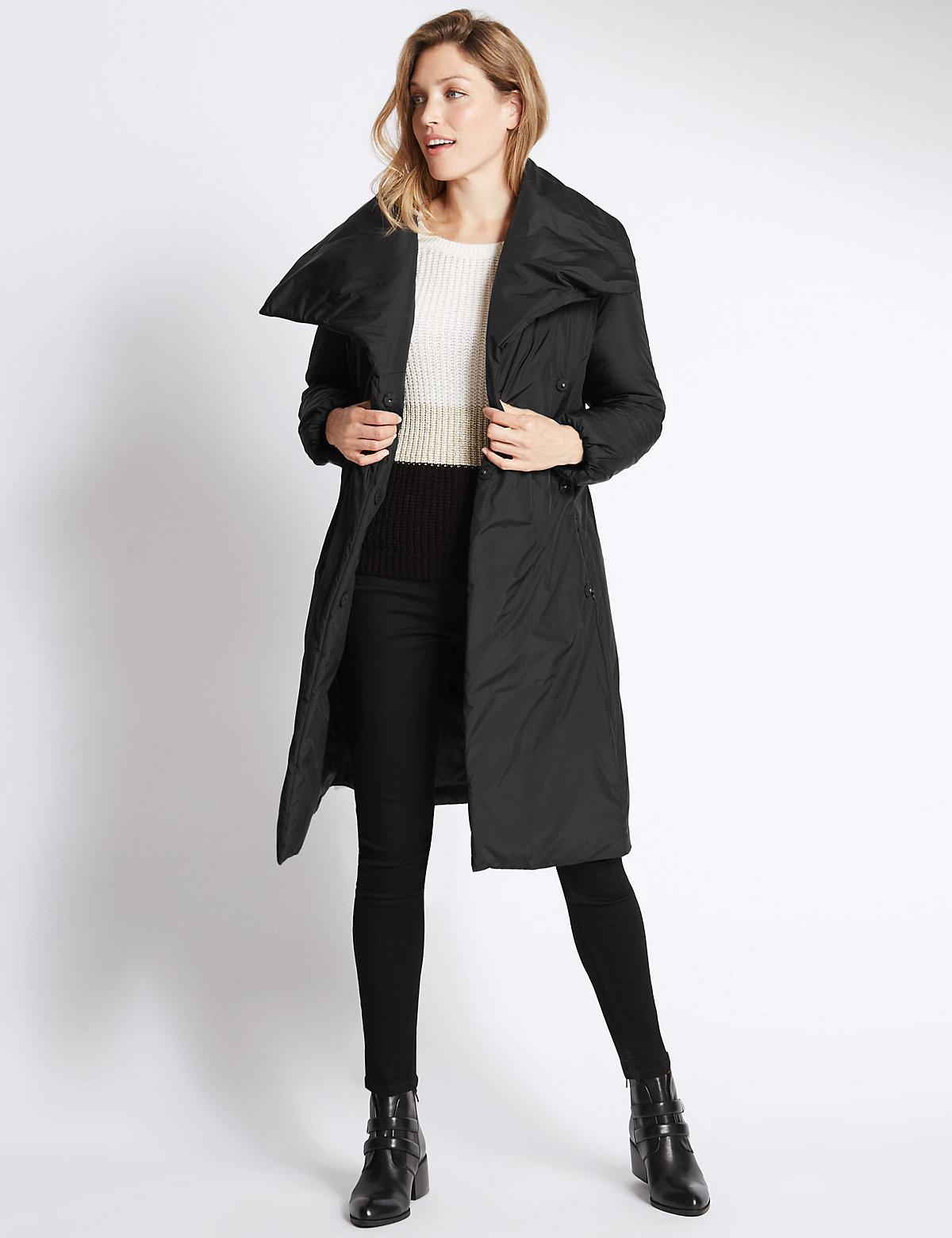 Per Una Padded & Quilted Duvet Coat