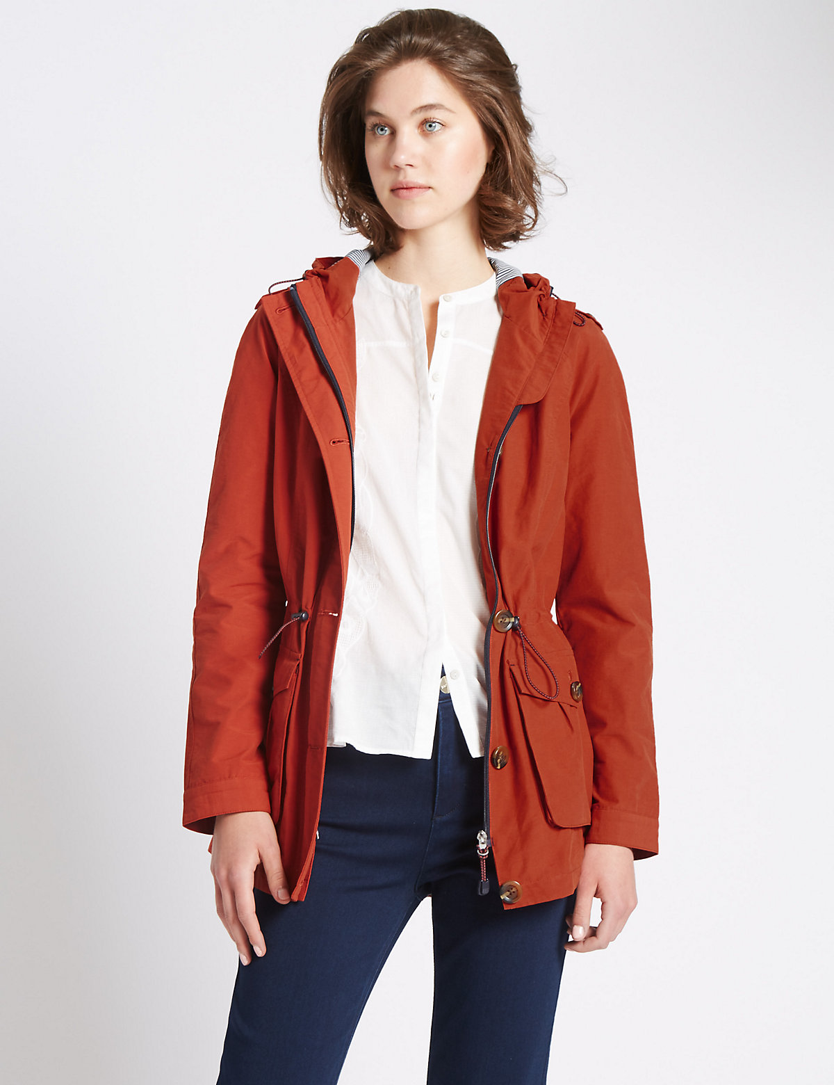 Per Una Panelled Mac With Stormwear