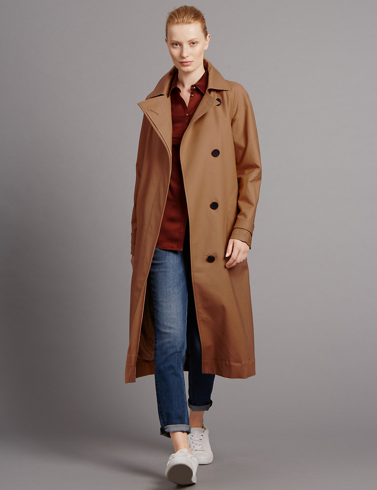 Autograph Back Pleat Trench Coat with Stormwear