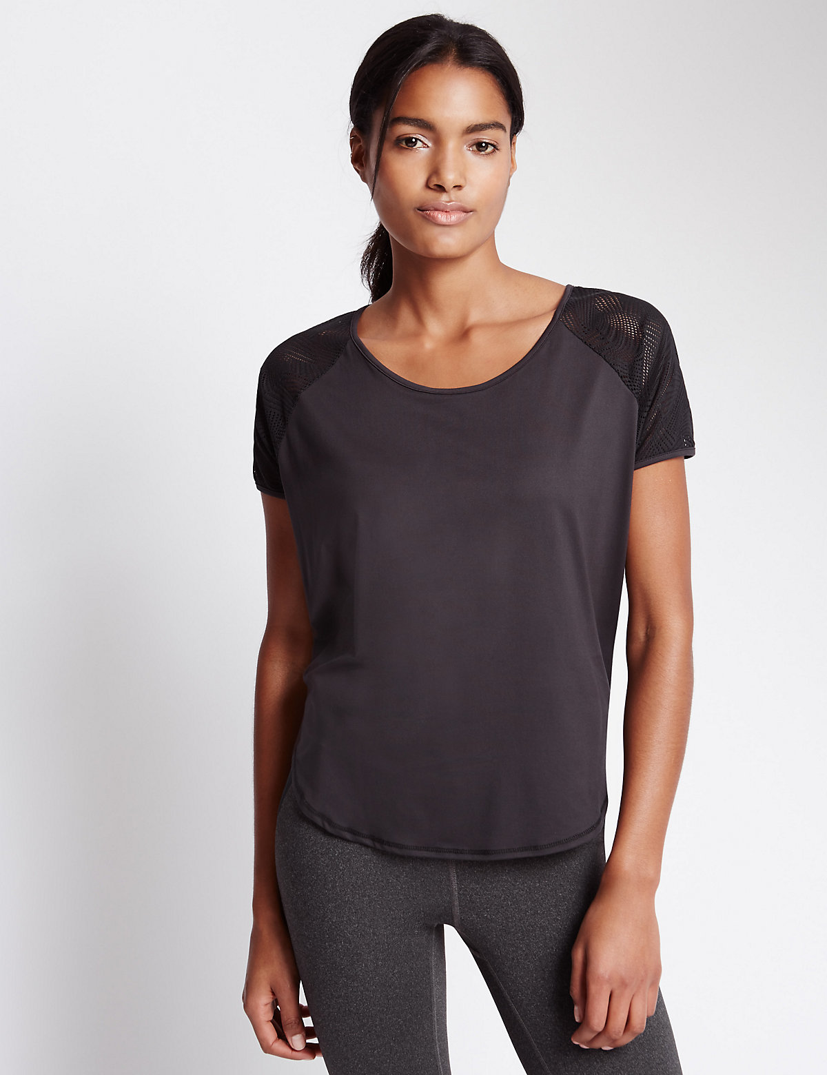 M&S Collection Mesh Back T-shirt
