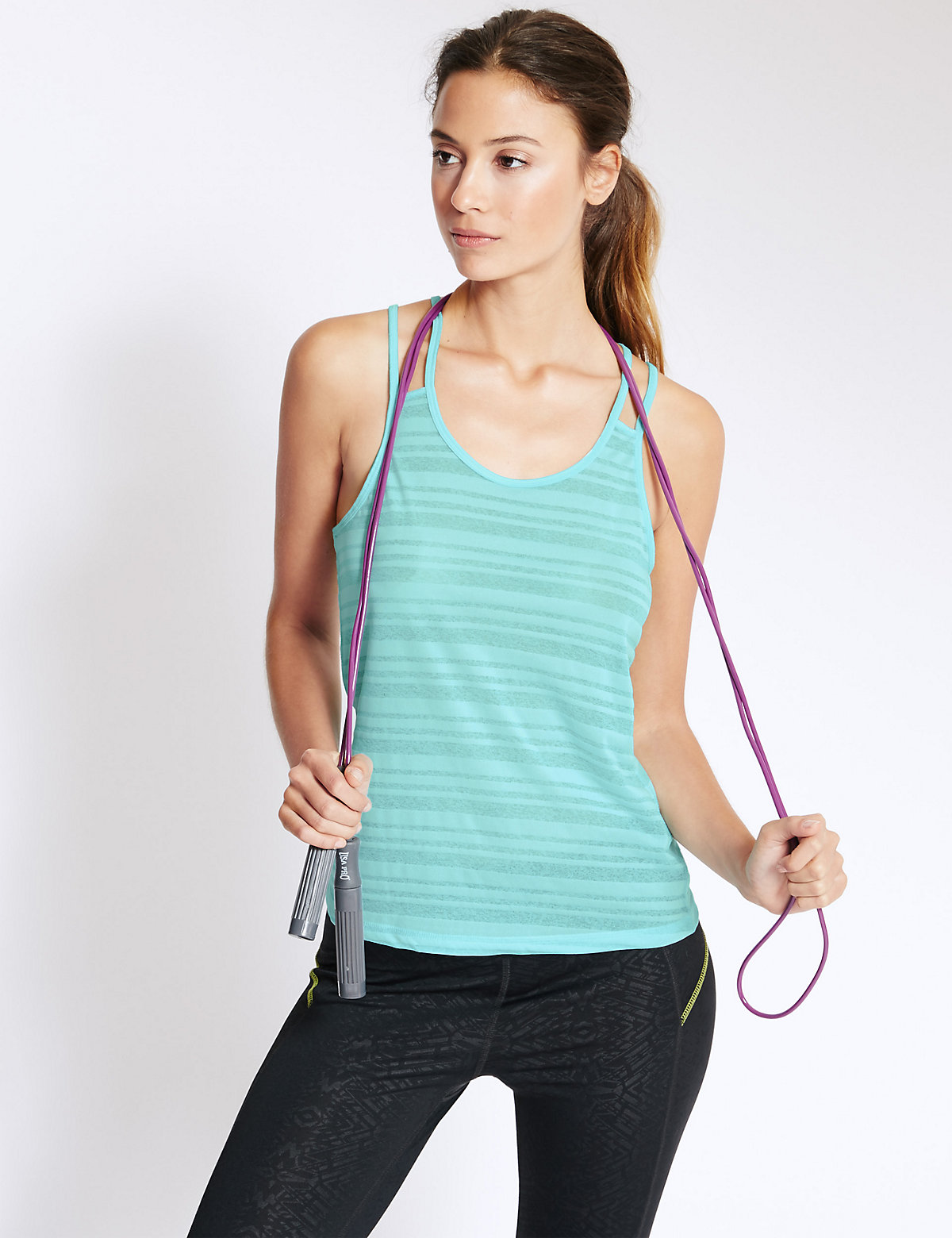 M&S Collection Quick Dry Strappy Vest with Cool Comfort Technology