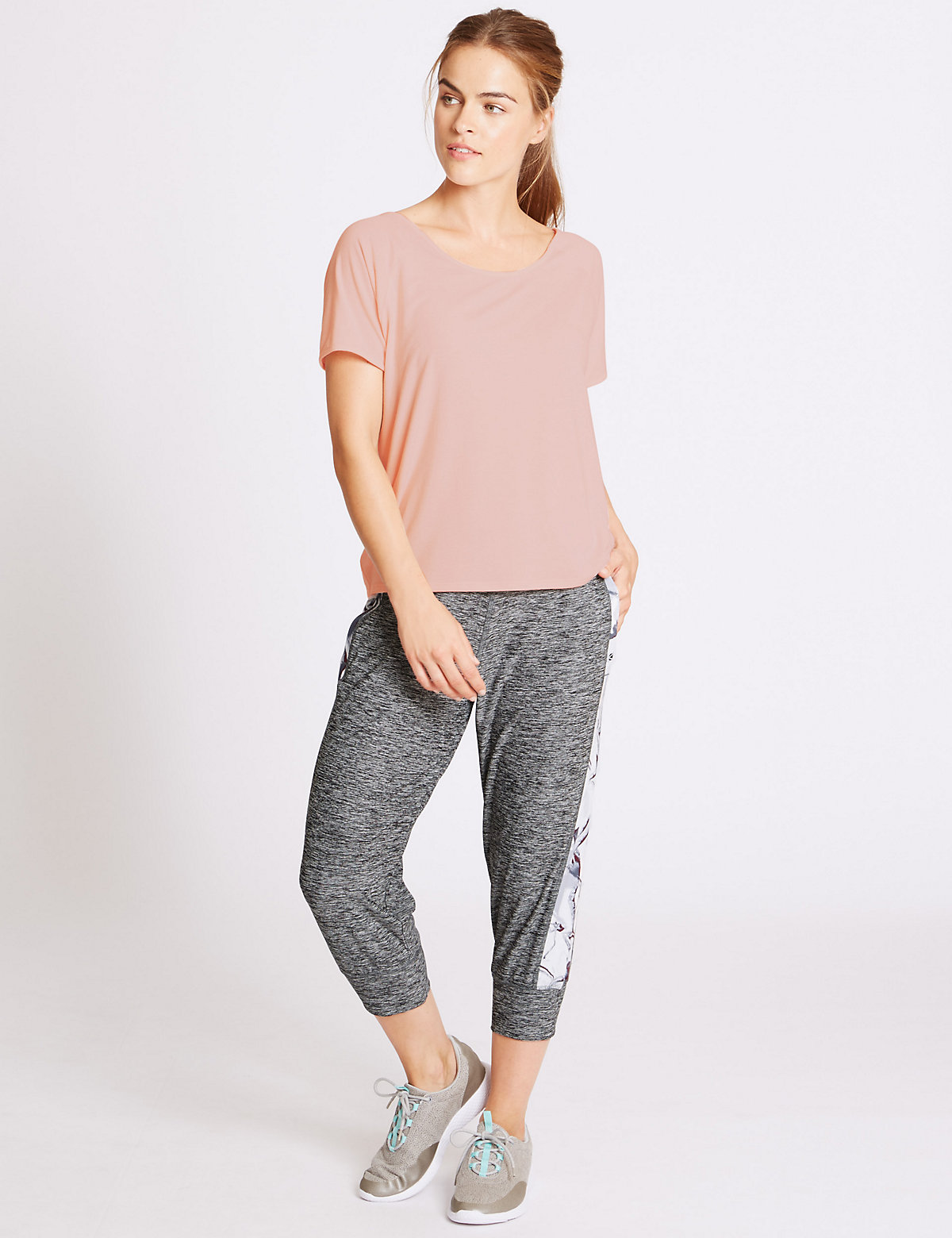 M&S Collection Supersoft Printed Joggers