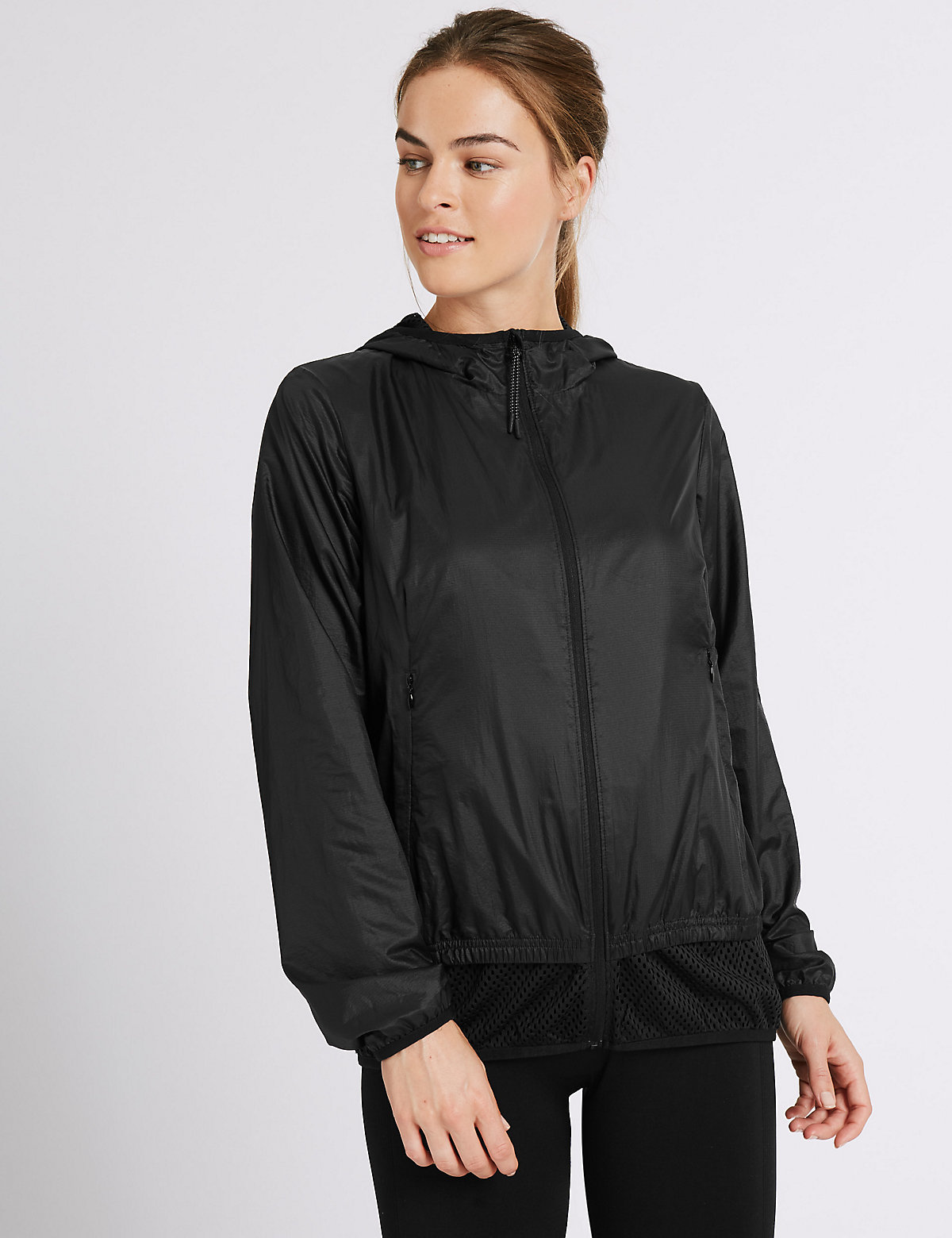 M&S Collection Hooded Windbreaker Jacket
