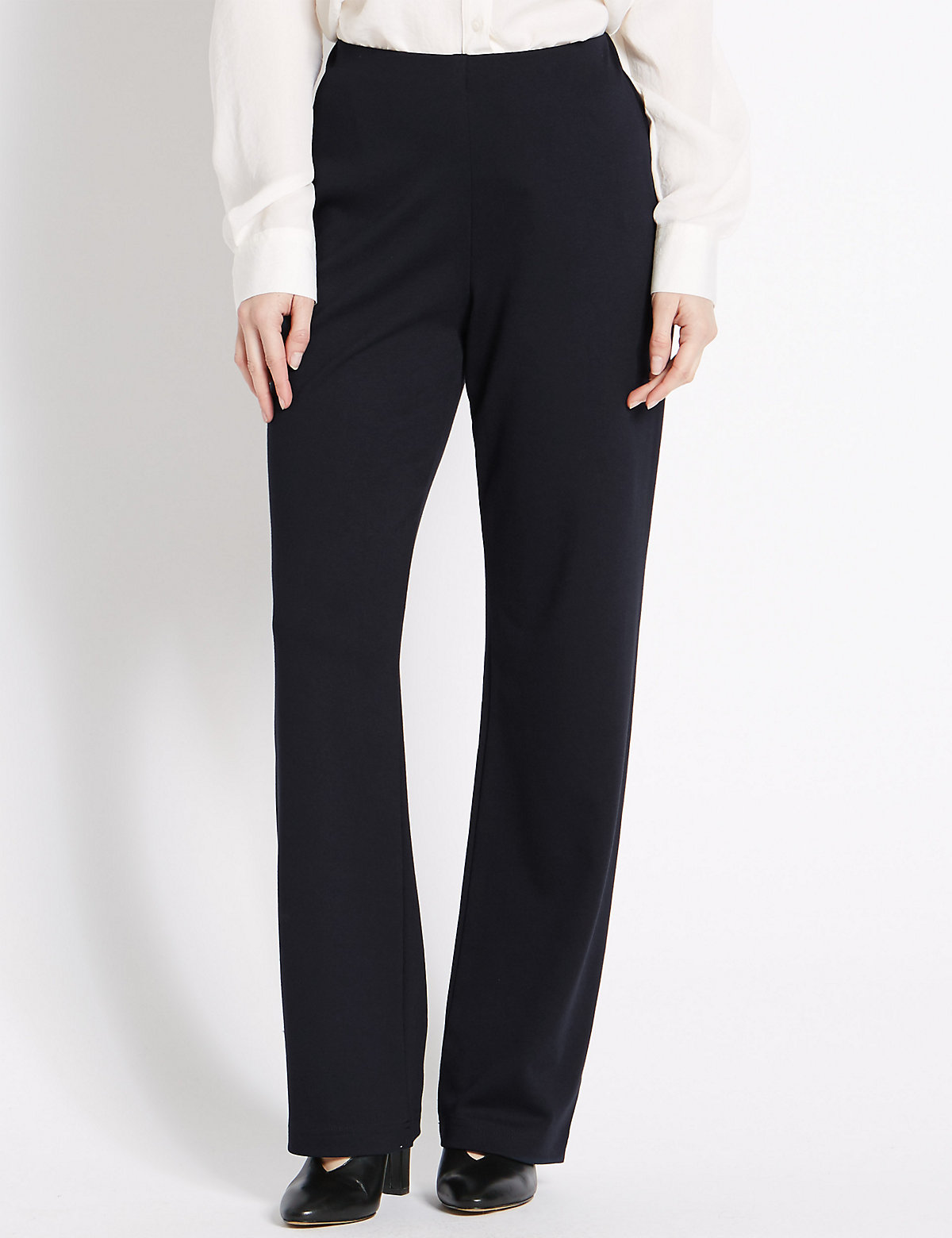 M&S Collection PETITE Pull on Slim Leg Trousers