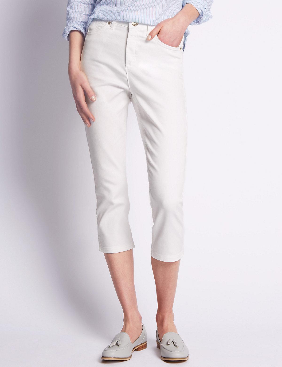 Per Una Roma Rise Straight Leg Cropped Jeans